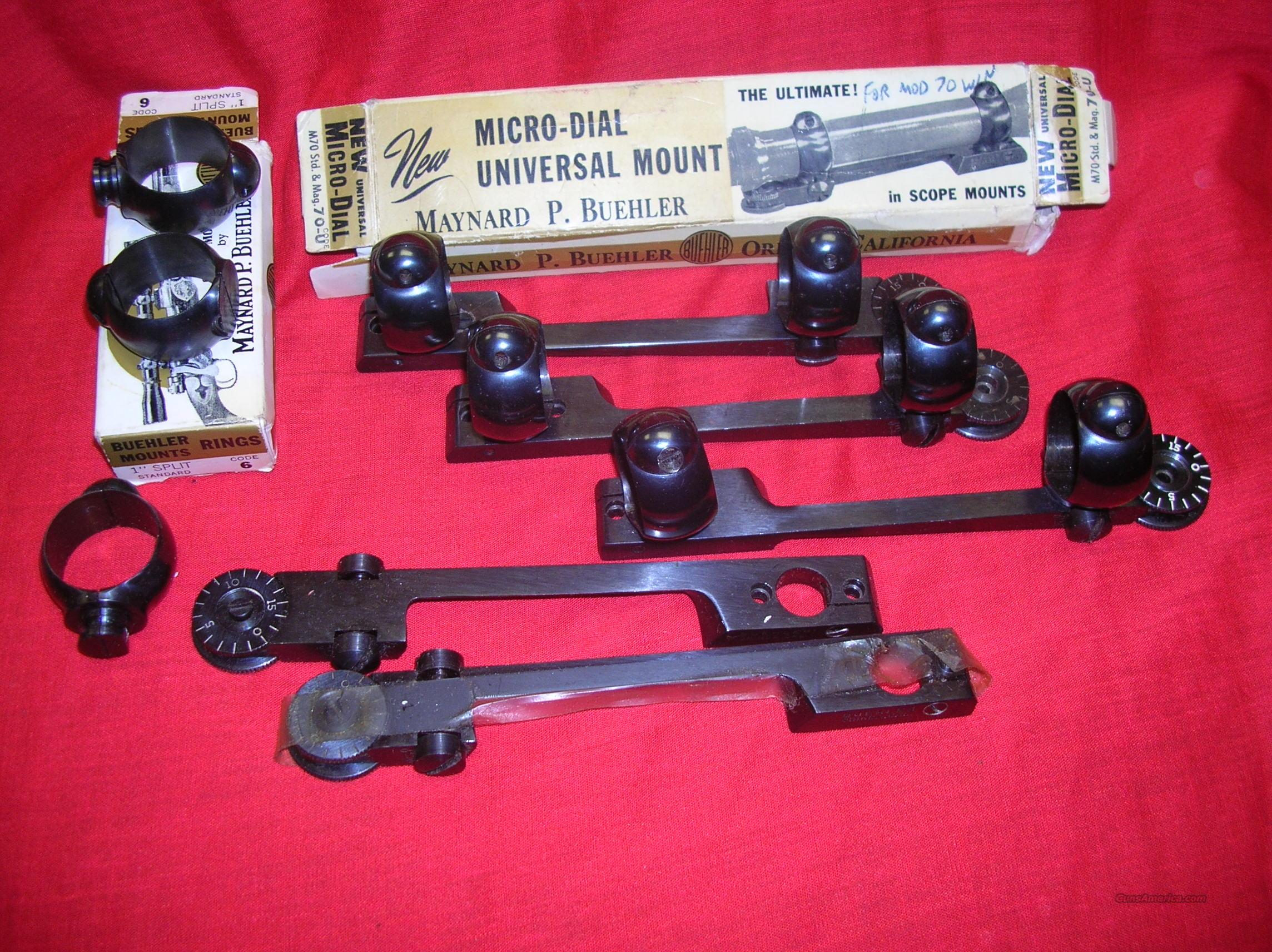 BUEHLER SCOPE MOUNTS AND RINGS  Non-Guns > Scopes/Mounts/Rings & Optics > Mounts > Other