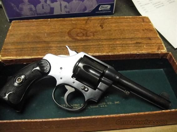 COLT 1916 Police Positive  38NP EXC IN BOX   Guns > Pistols > Colt Double Action Revolvers- Pre-1945