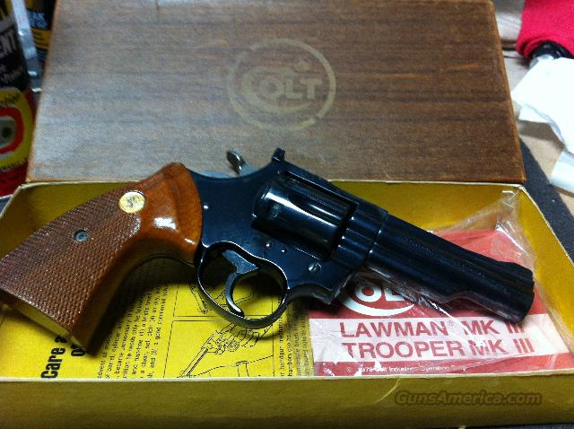 "COLT 4"" Trooper MKIII  357 EXCELLENT IN BOX  Guns > Pistols > Colt Double Action Revolvers- Modern"