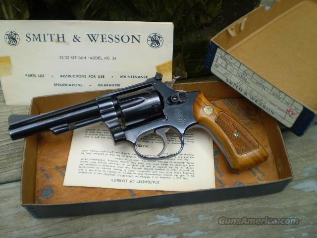 "S&W Model 34-1, (22/32 kit gun) 22LR, 4""  Free Shipping  Guns > Pistols > Smith & Wesson Revolvers > Pocket Pistols"