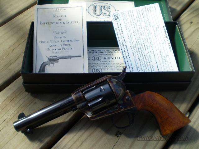 "US Firearms Single Action, 38 WCF  4 ¾"" Free Shipping  Guns > Pistols > United States Patent Firearms Revolvers/Pistols"