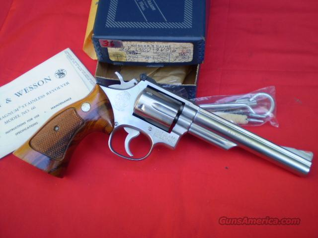 S&W Model 66-1 Stainless  Free Shipping  Guns > Pistols > Smith & Wesson Revolvers > Full Frame Revolver
