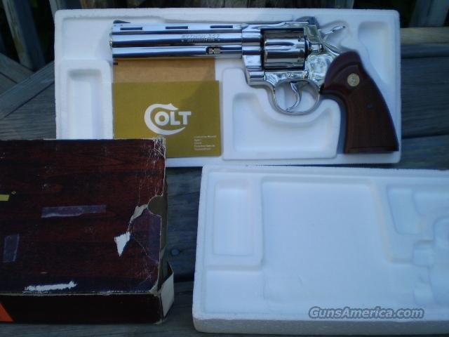 "Colt Python 6"" Bright Nickel   Free Shipping  Guns > Pistols > Colt Double Action Revolvers- Modern"