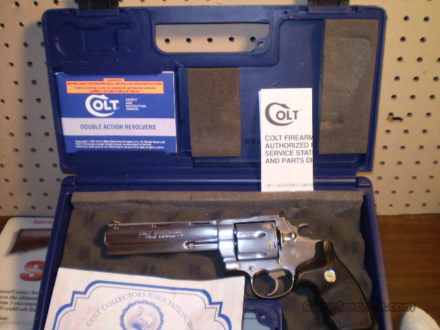 Colt Anaconda Rare Barrel Marking Free Shipping  Guns > Pistols > Colt Double Action Revolvers- Modern