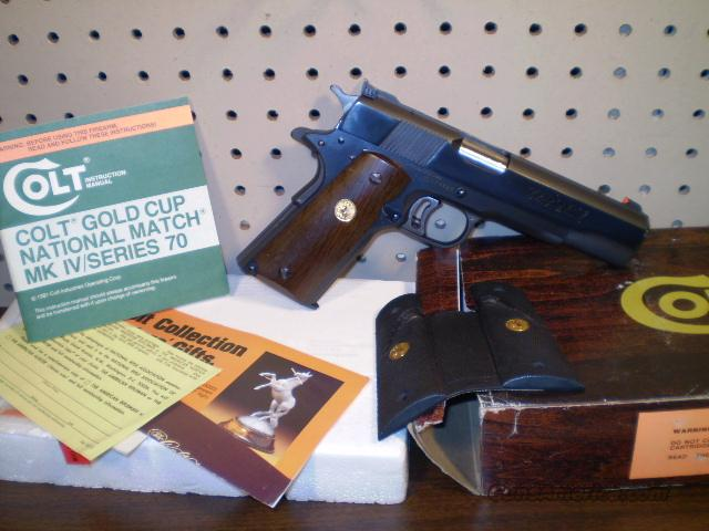 Colt Gold Cup National Match MK IV Free Shipping  Guns > Pistols > Colt Automatic Pistols (1911 & Var)