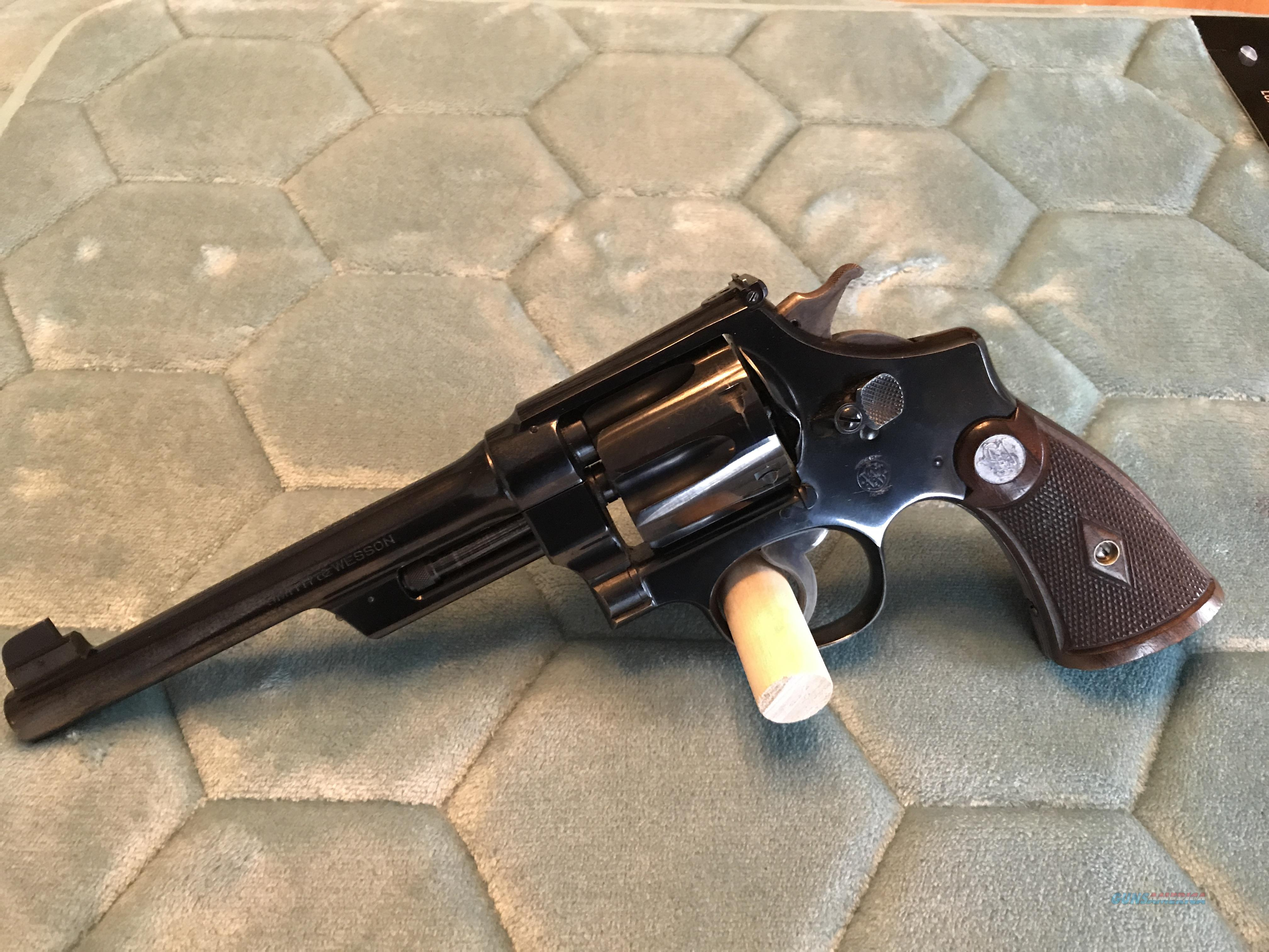 Smith & Wesson 38/44 Outdoorsman - ALL MATCHING  Guns > Pistols > Smith & Wesson Revolvers > Pre-1945