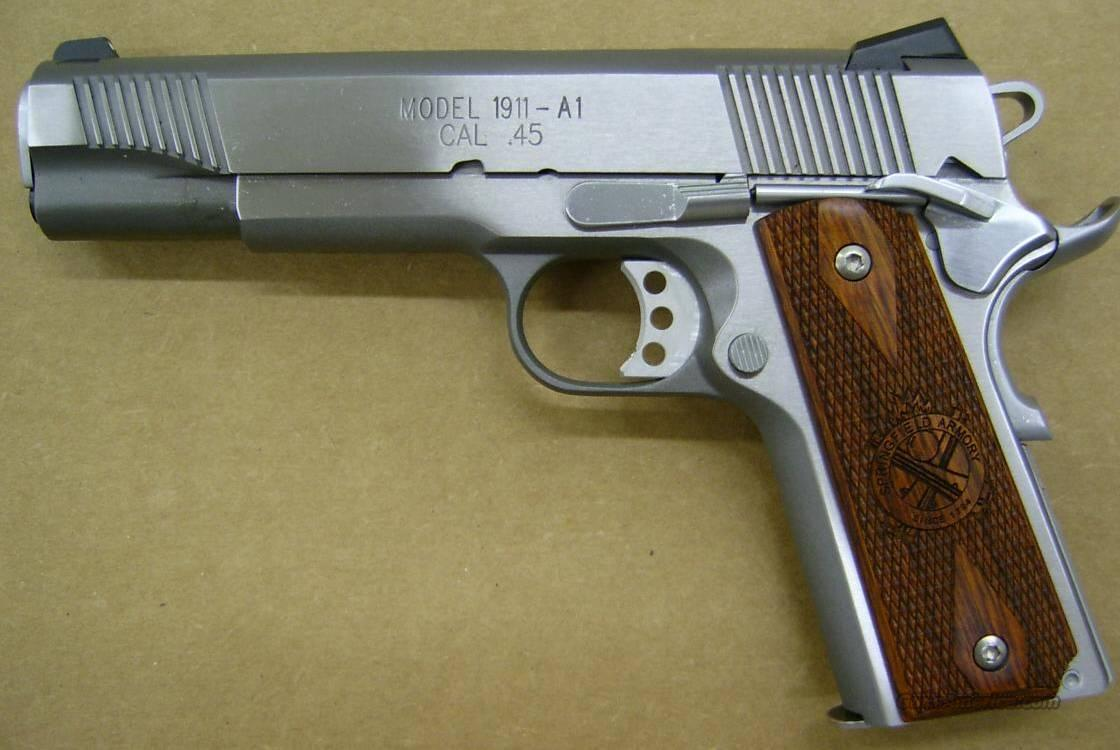 Springfield Armory 1911A1 Stainless Steel  Guns > Pistols > Springfield Armory Pistols > 1911 Type