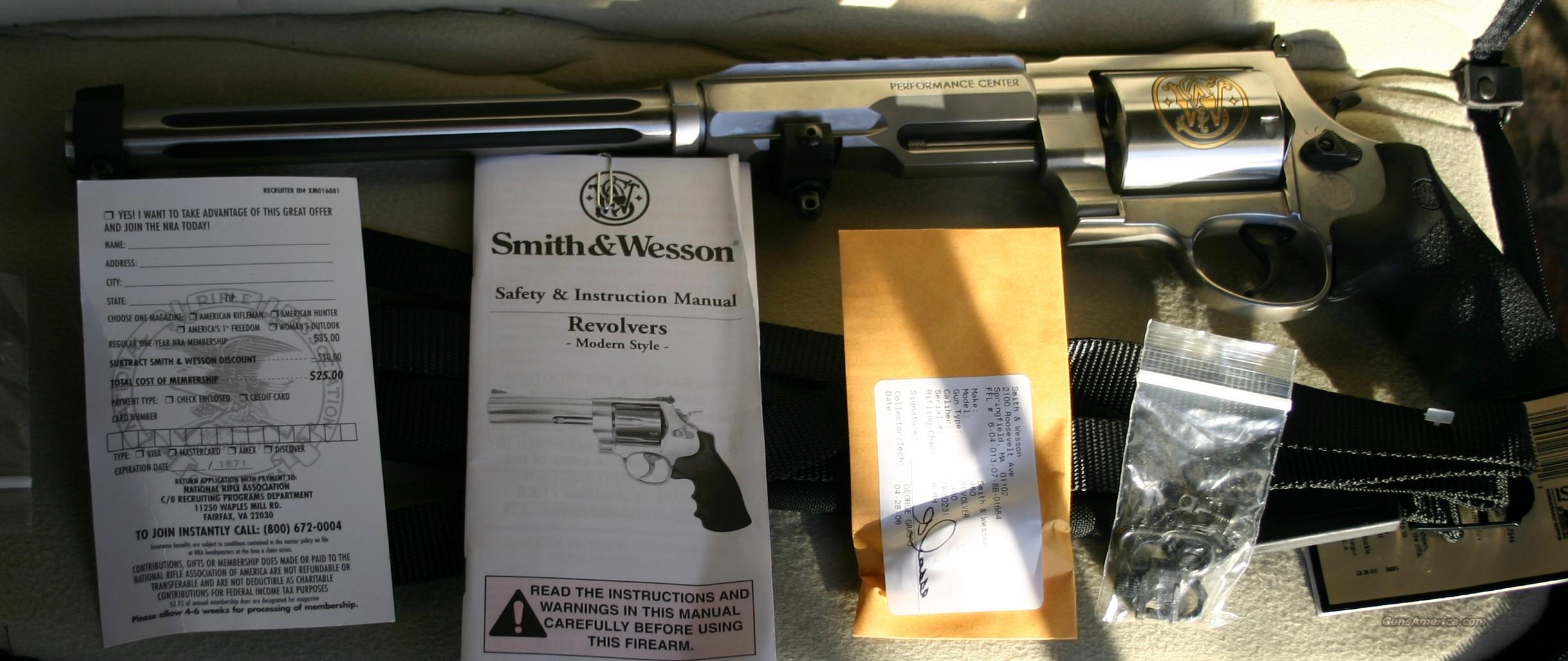 "S&W 460 XVR Performance Center 14"", 1 of 50  Guns > Pistols > Smith & Wesson Revolvers > Performance Center"