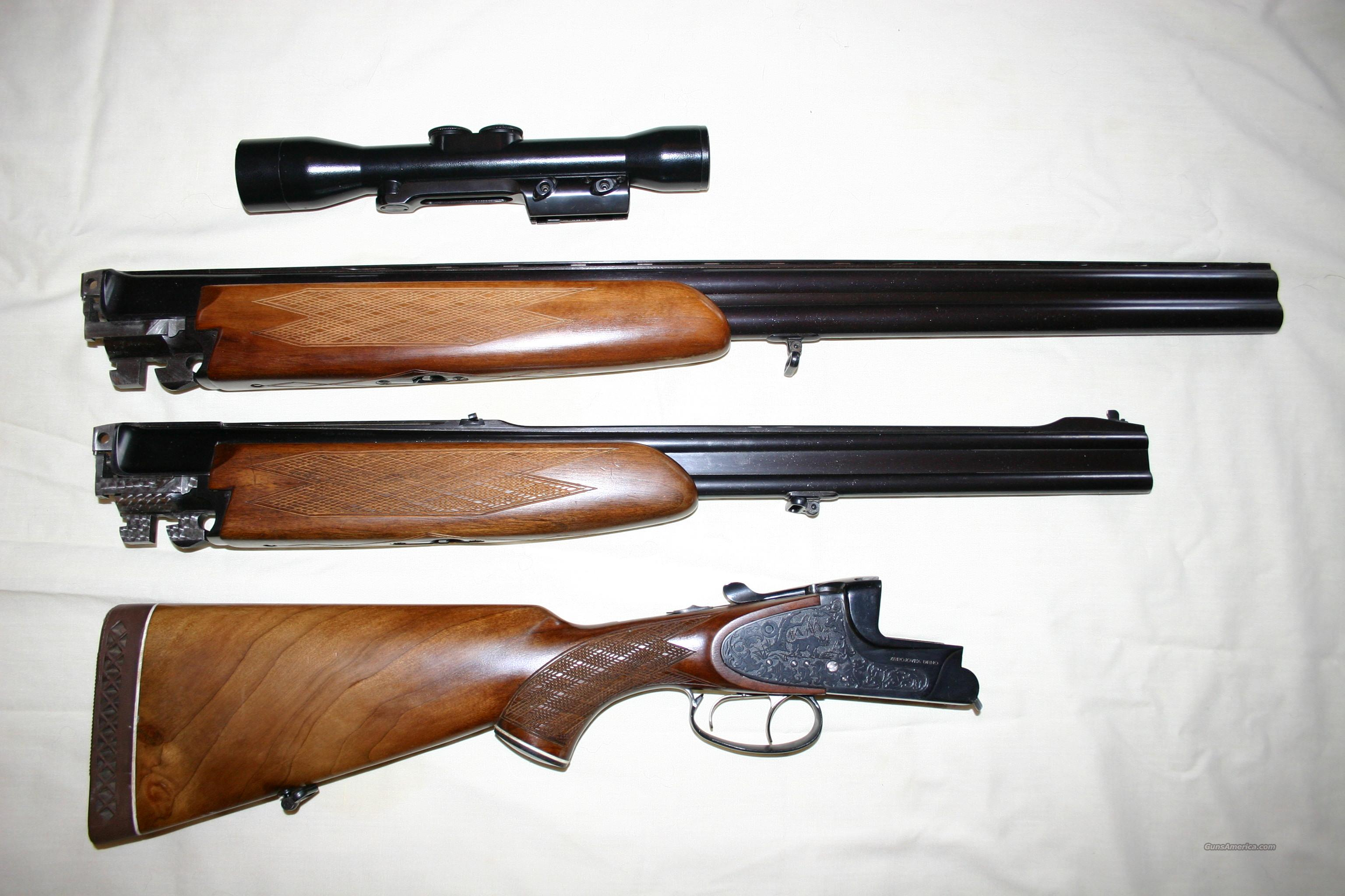 BRNO 375 H&H O/U ENGRAVED DOUBLE RIFLE W/EXTRA 12 GA. BARRELS & 4x Zeiss scope  Guns > Rifles > Double Rifles (Misc.)