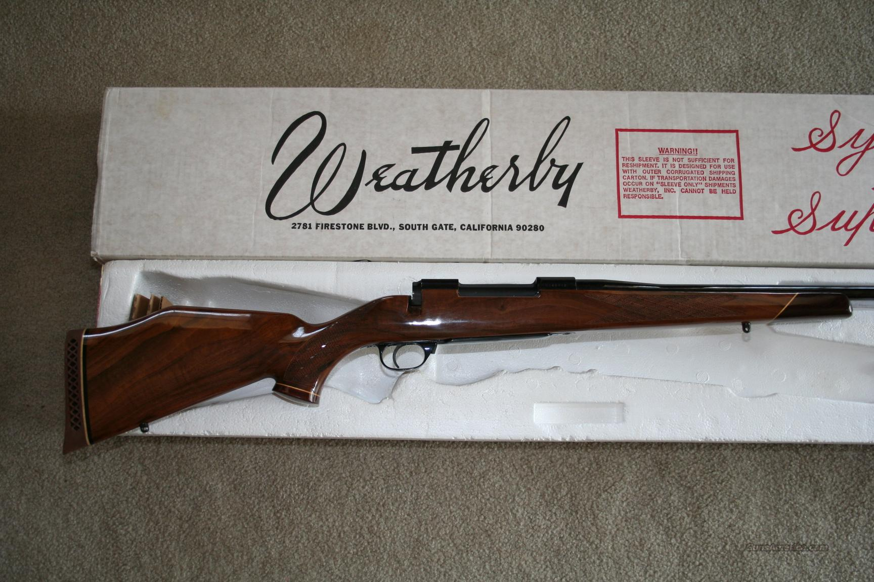 WEATHERBY DELUXE 257 WBY MAG JAPAN (NIB)  Guns > Rifles > Weatherby Rifles > Sporting