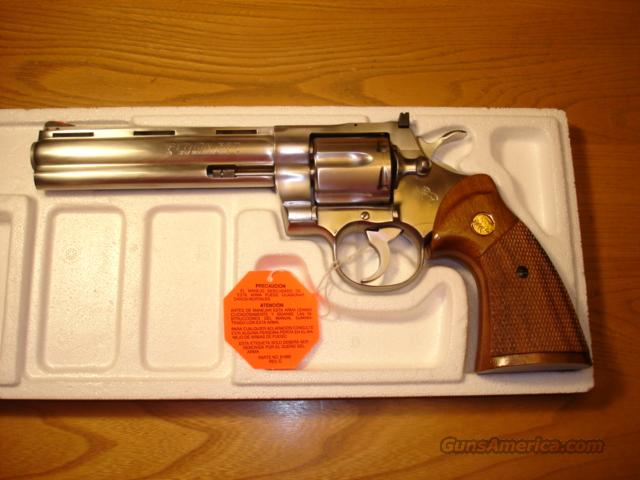 "COLT PYTHON 1985 STAINLESS STEEL 6"" BARREL ************NEW IN BOX************  Guns > Pistols > Colt Double Action Revolvers- Modern"