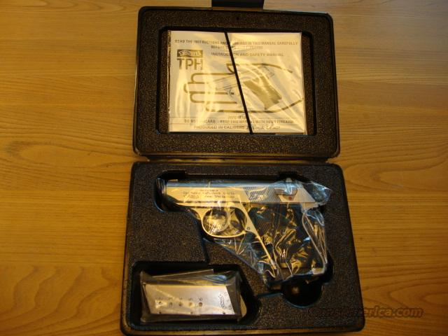 WALTHER TPH .25 ACP CALIBER STAINLESS STEEL ************NEW IN BOX************  Guns > Pistols > Interarms Pistols