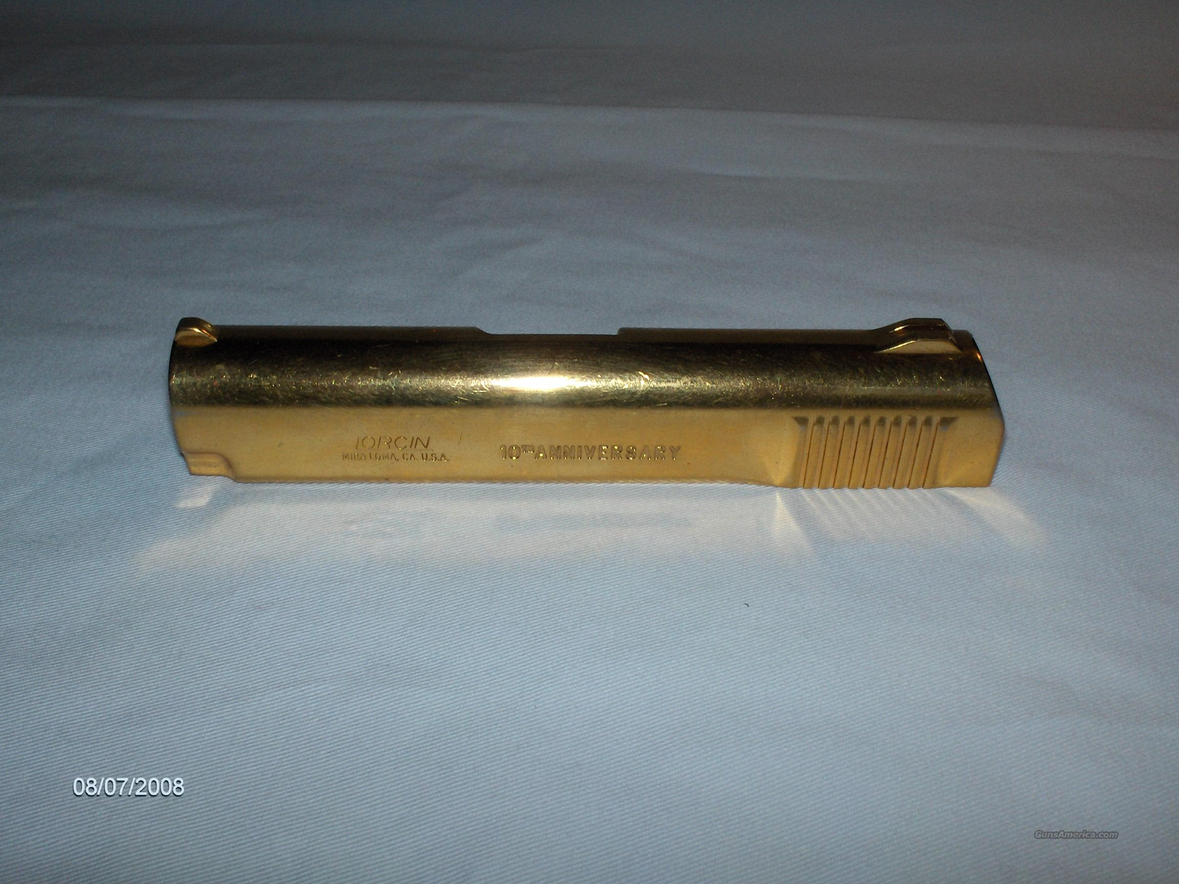 Lorcin L380 Slide, Gold Plated 10th Anniversary Edition *RARE*  Non-Guns > Gun Parts > Misc > Pistols