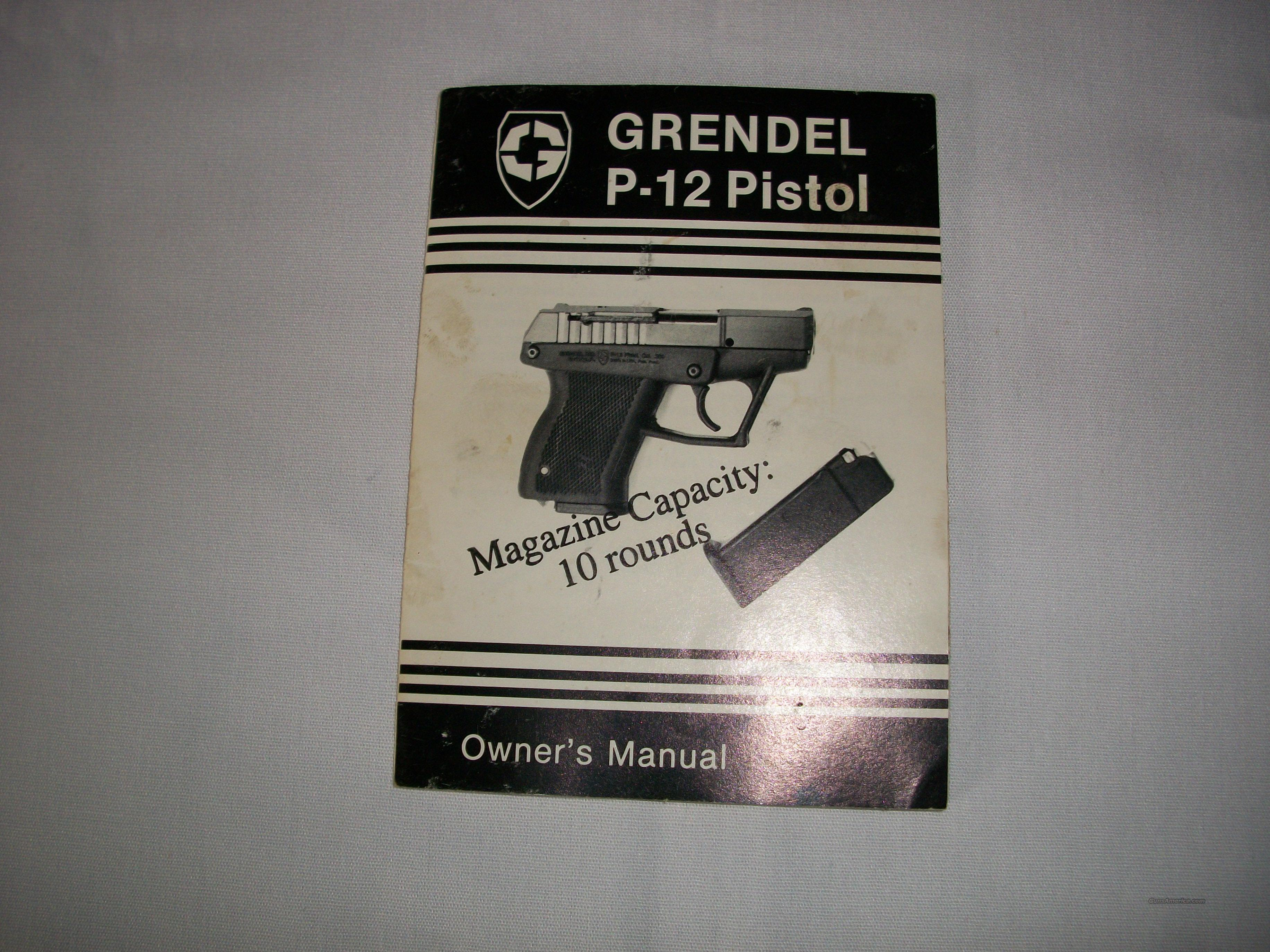 Grendel P12 Manual  Non-Guns > Manuals - Print
