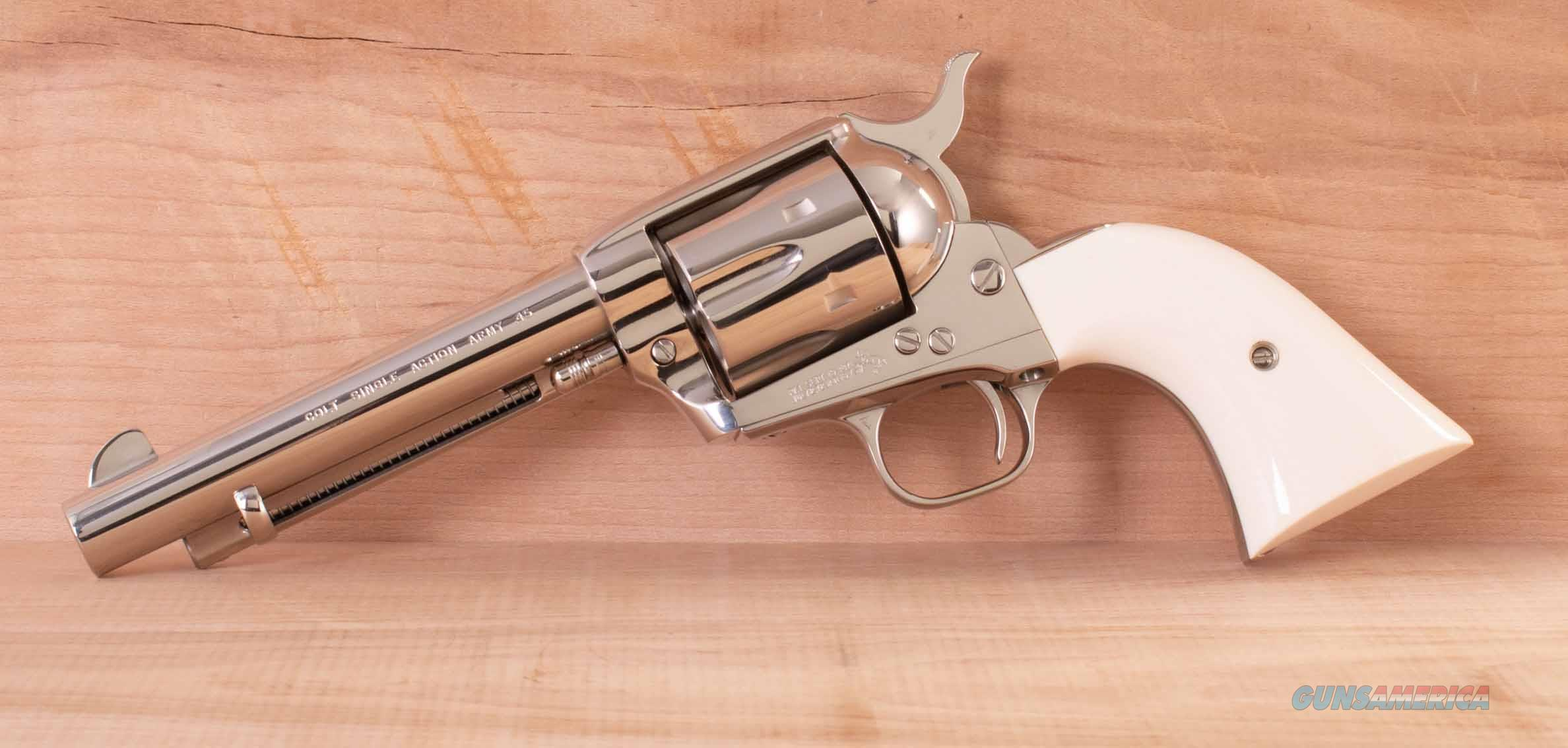 Colt Single Action Army .45 – NICKEL, FACTORY IVORY, 175th ANNIVERSARY, vintage firearms inc  Guns > Pistols > Colt Single Action Revolvers - 3rd Gen.