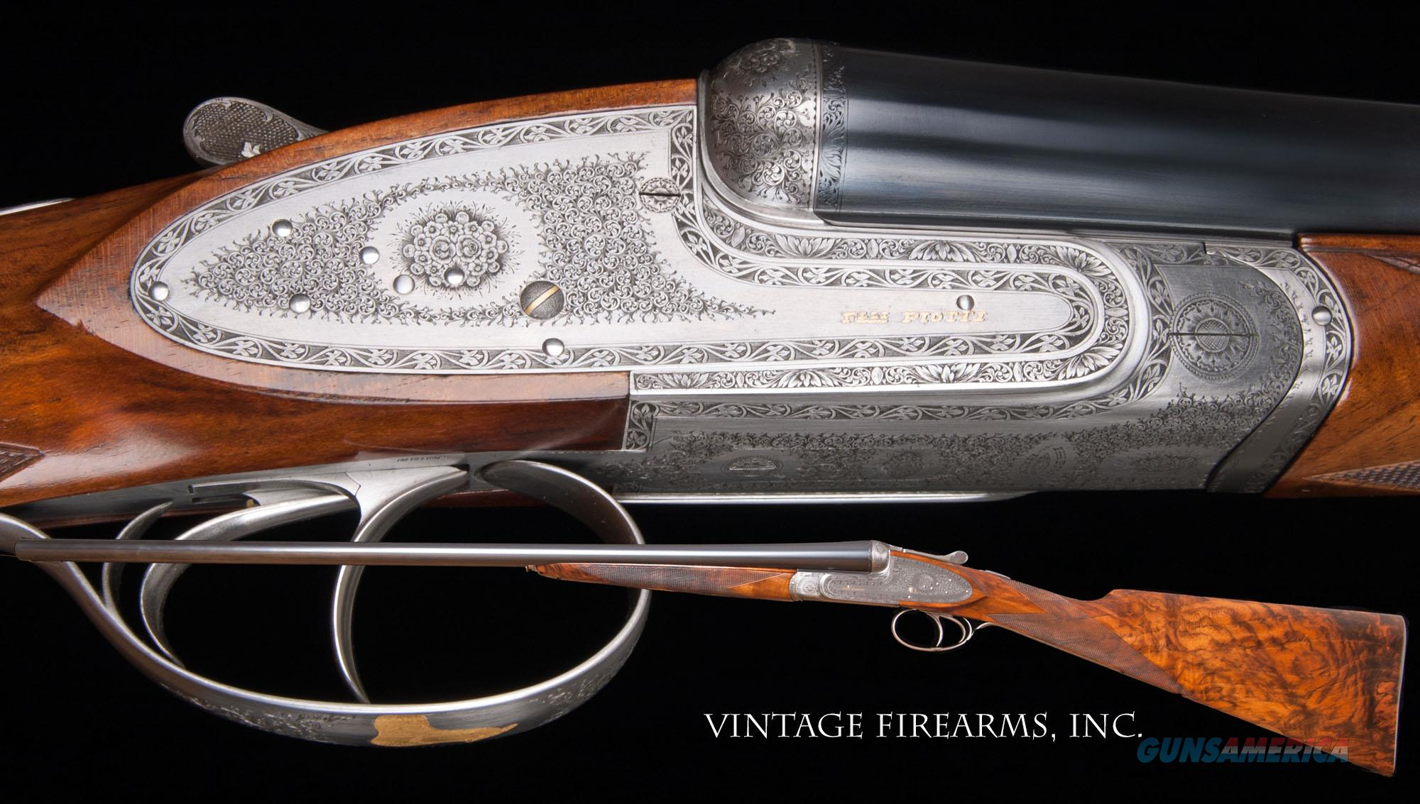 Piotti Monaco 20 Gauge SxS - NO. 2 ENGRAVED UPGRADED WOOD, AS NEW!   Guns > Shotguns > Piotti Shotguns