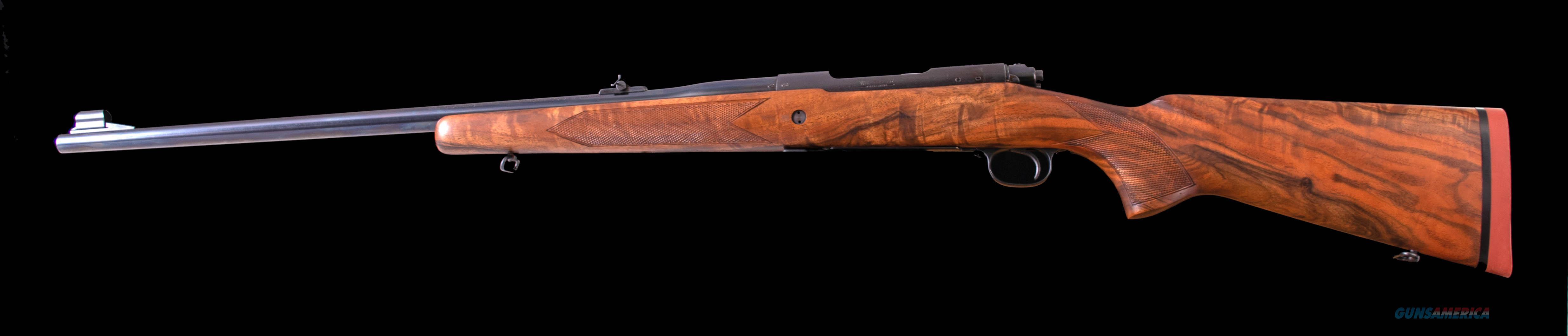 Winchester Pre-'64 Model 70 .375 H & H – 1956, CUSTOM WOOD, vintage firearms inc  Guns > Rifles > Winchester Rifles - Modern Bolt/Auto/Single > Model 70 > Pre-64