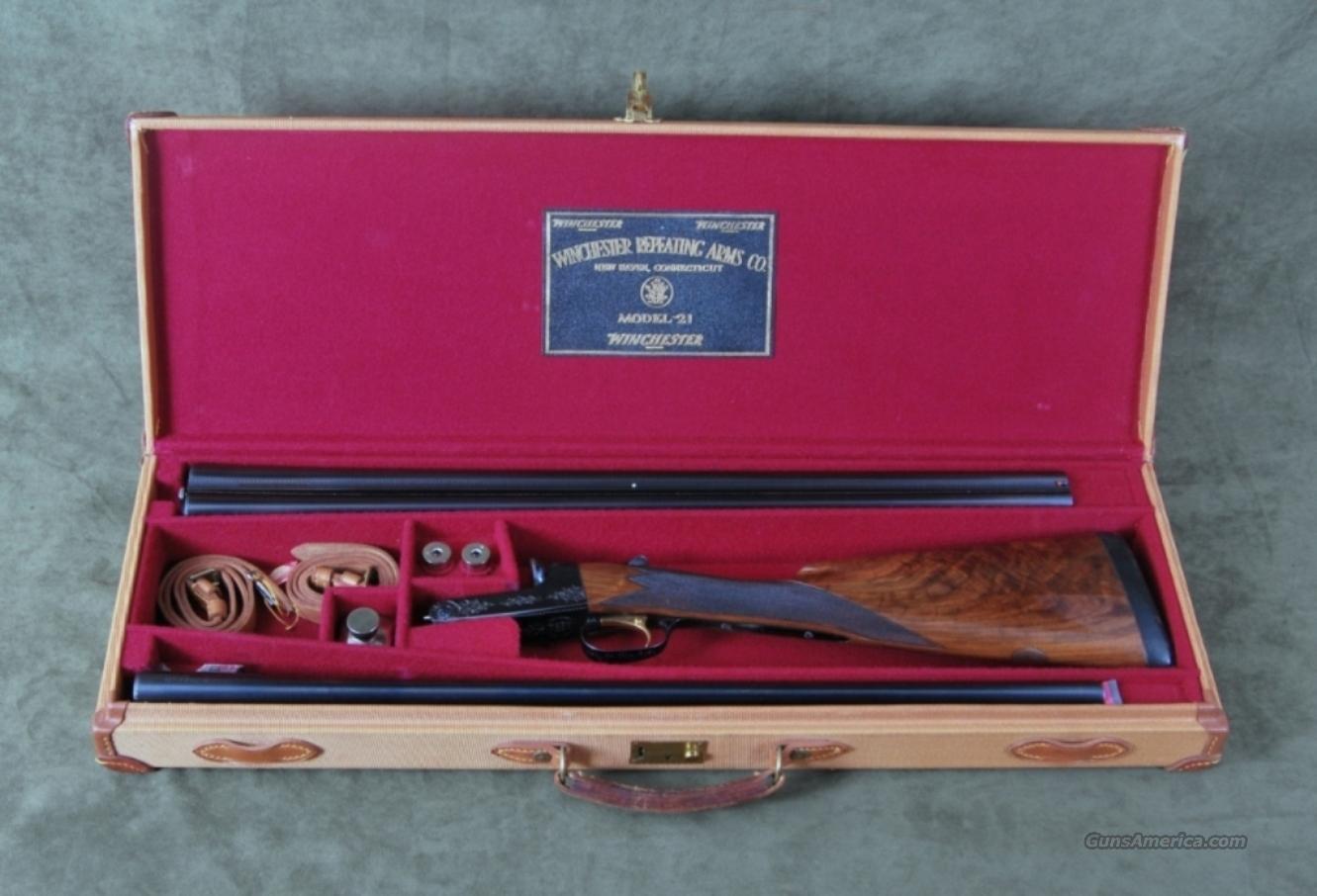Winchester Model 21 16ga. CUSTOM GRADE, 2 BARREL SET, CODY LETTER  Guns > Shotguns > Winchester Shotguns - Modern > SxS