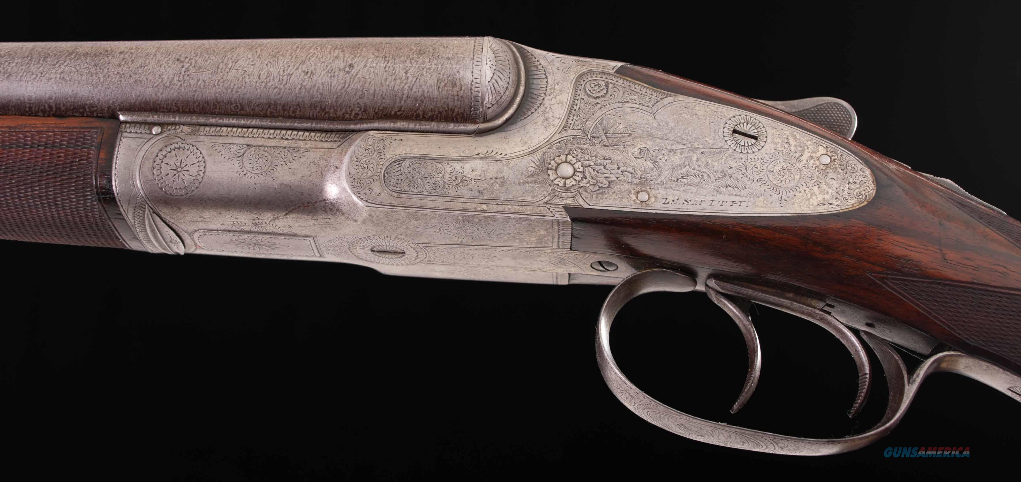 "L.C. Smith Quality A-1 - vintage firearms - RARE 16 Gauge, 1 OF 10 MADE, FIGURED ENGLISH WALNUT, 28"" DAMASCUS  Guns > Shotguns > L.C. Smith Shotguns"