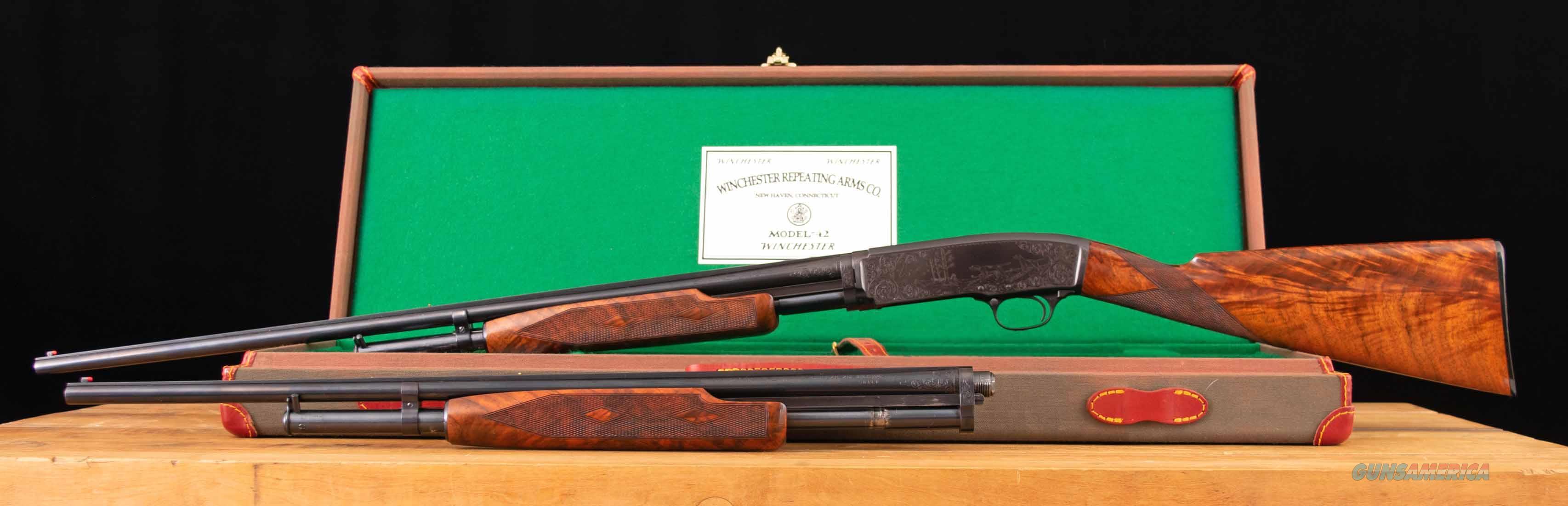 Winchester Model 42 – 2 BARREL SET, #5 ENGRAVED, PIGEON GRADE, vintage firearms inc  Guns > Shotguns > Winchester Shotguns - Modern > Pump Action > Trap/Skeet