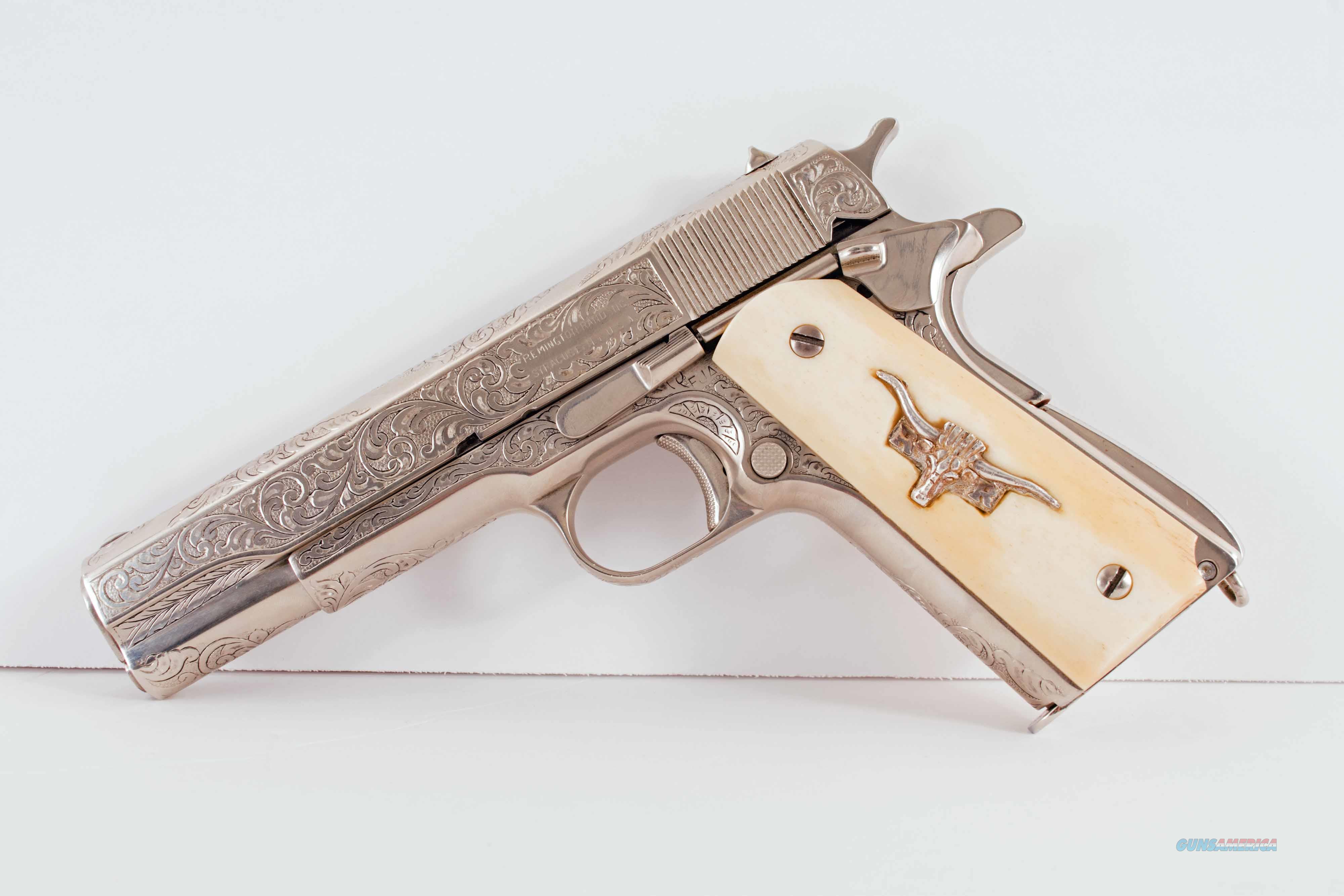 Remington-Rand 1911 – ENGRAVED, NICKEL, IVORY vintage firearms inc  Guns > Pistols > 1911 Pistol Copies (non-Colt)