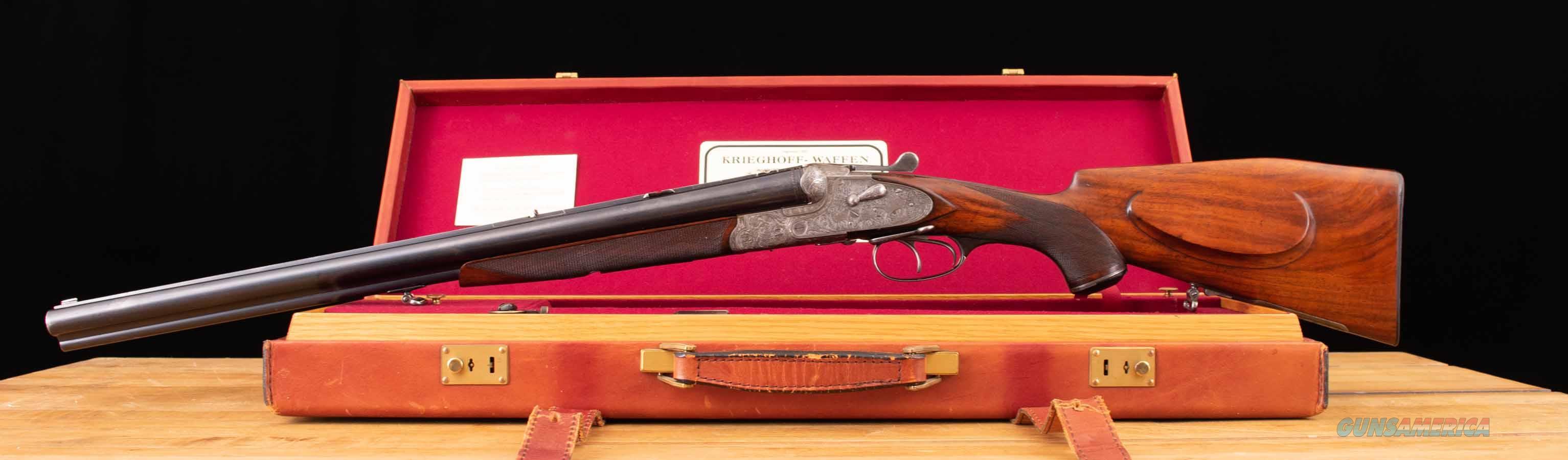Krieghoff Neptun Primus Drilling – 1930, SIDELOCK, DETACHABLE TRIGGER, vintage firearms inc  Guns > Shotguns > Krieghoff Shotguns