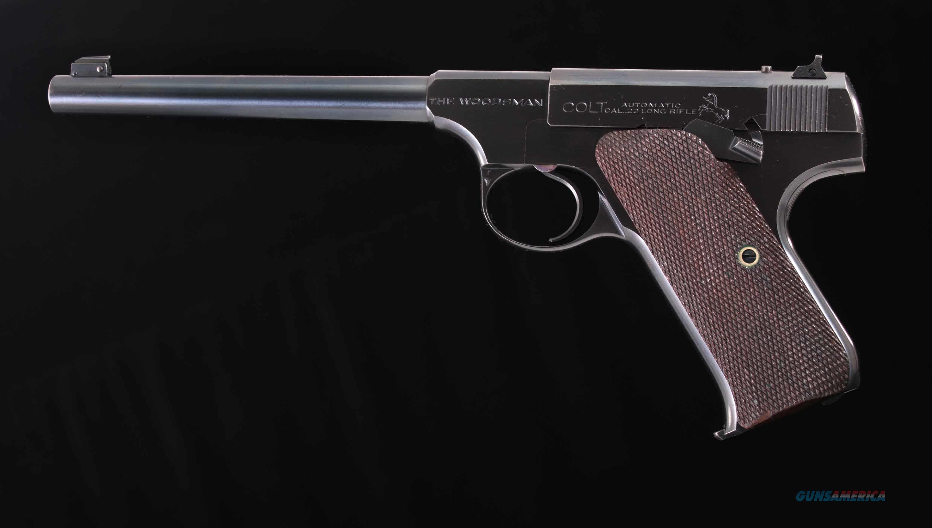 Colt Woodsman .22LR – TARGET MODEL, 1937, AWESOME COLT, 99.5%, vintage firearms inc   Guns > Pistols > Colt Automatic Pistols (22 Cal.)