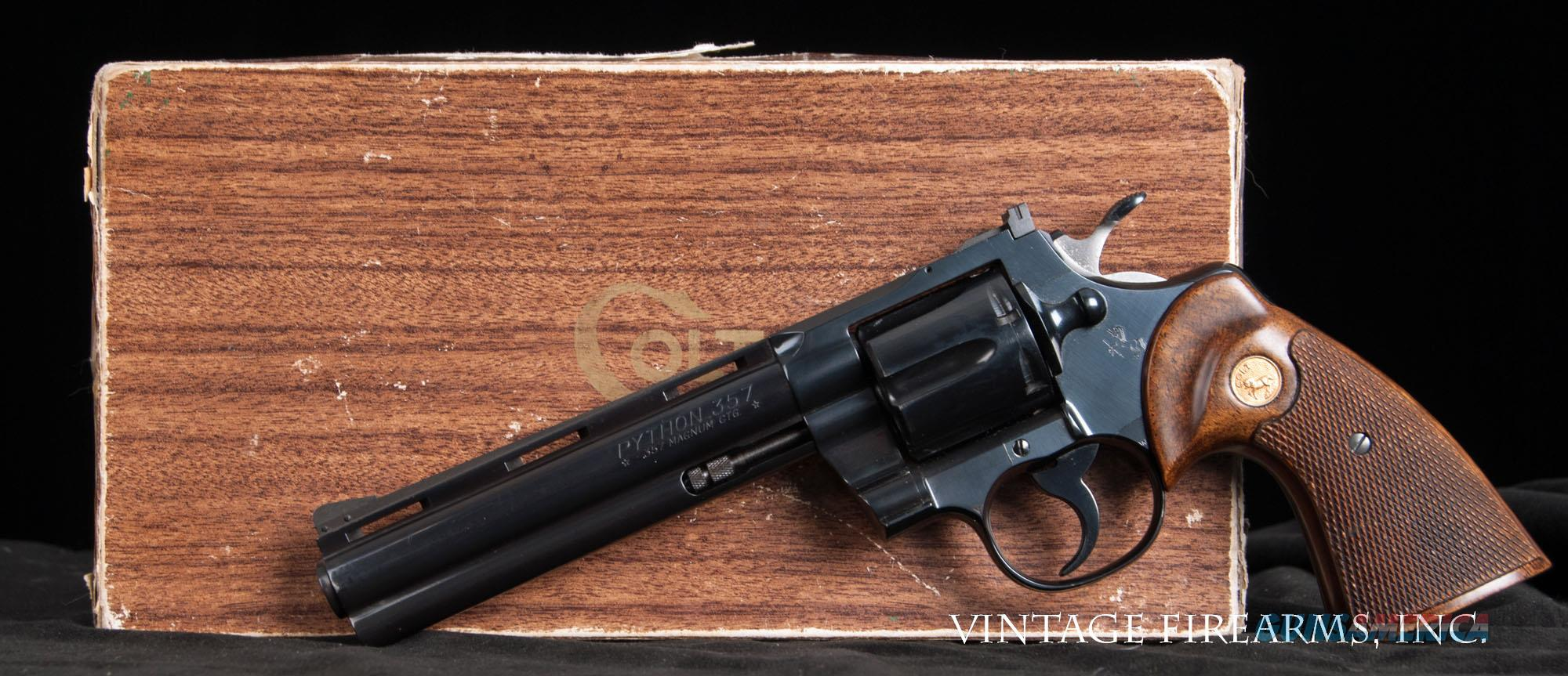Colt Python .357 Revolver - 1961 W/BOX AND PAPERS, 99% FACTORY CONDITION   Guns > Pistols > Colt Double Action Revolvers- Modern