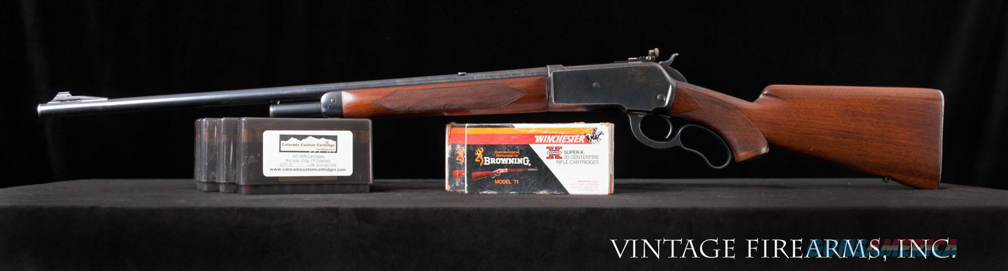 Winchester Model 71, .348 WINCHESTER DELUXE RIFLE 97% FACTORY FINISHES, AMMO, PEEP!   Guns > Rifles > Winchester Rifles - Modern Lever > Other Lever > Pre-64