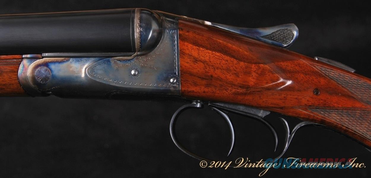 Fox HE Super 20 Bore SxS Shotgun - SUPER FOX 20 BORE!!!  1 OF 60, RARE, 100% AS NEW, LETTERED!  Guns > Shotguns > Fox Shotguns