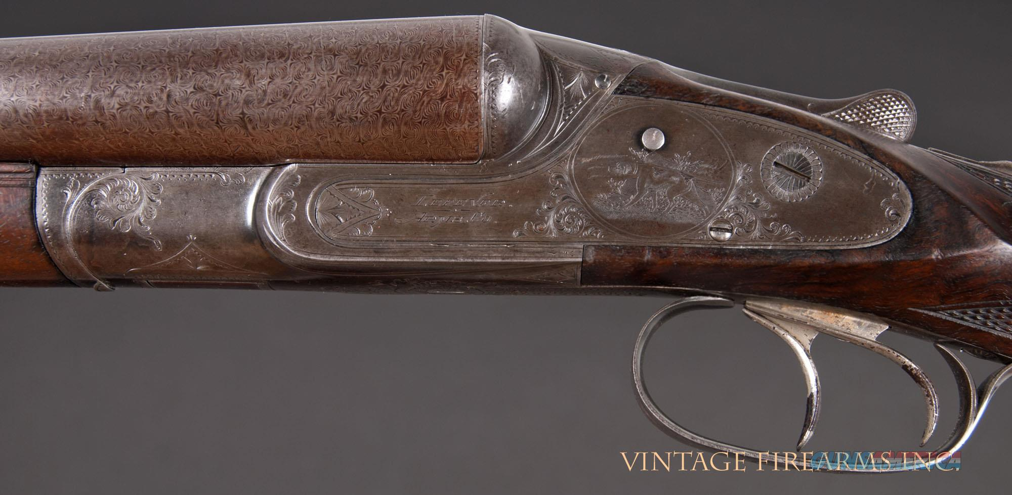 Lefever EE Grade 12 Gauge - BEAUTIFUL DAMASCUS, MIRROR BORES, 1905   Guns > Shotguns > Lefever Shotguns