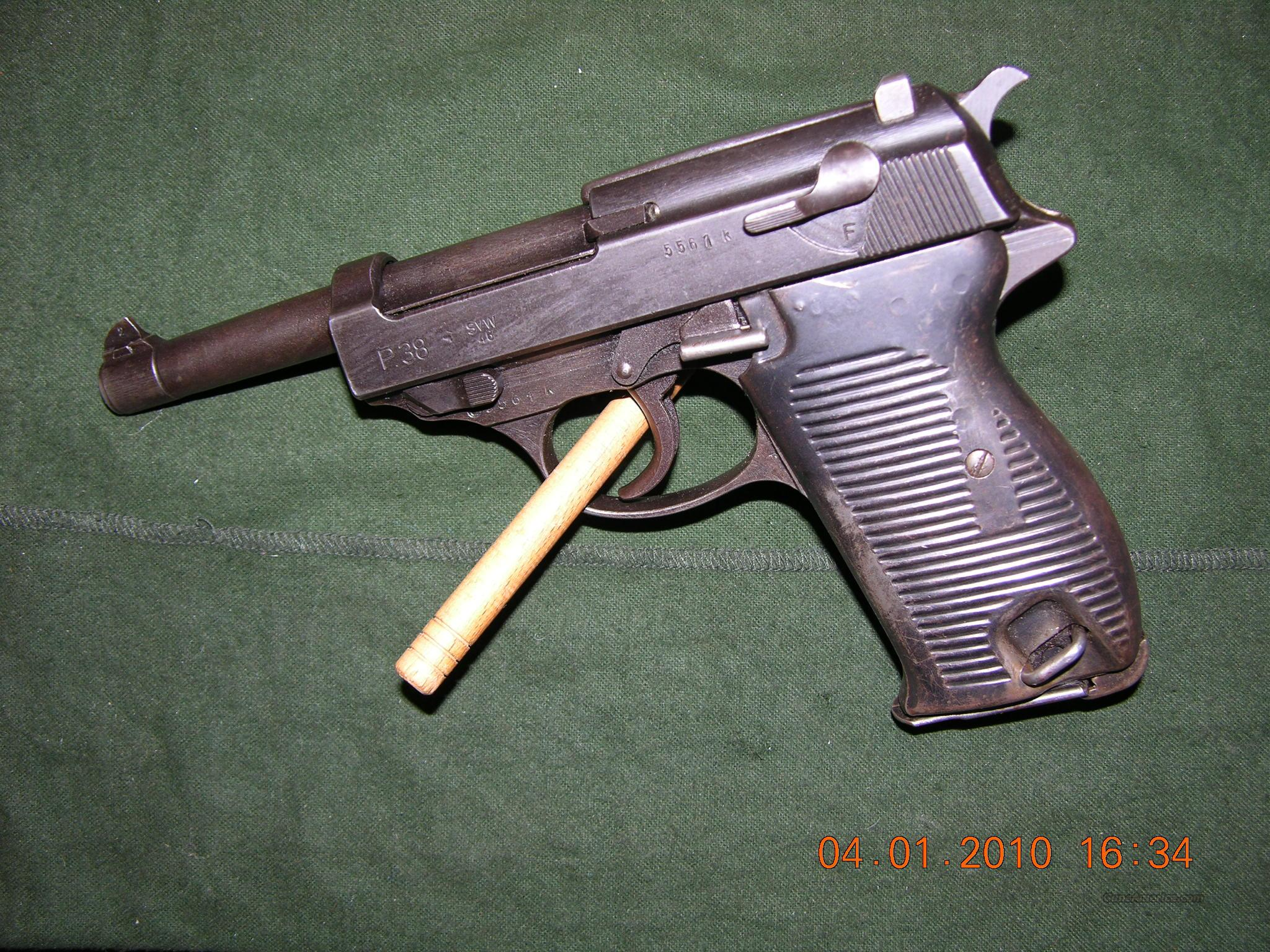 Mauser P38 military svw 46 French Proofed  Guns > Pistols > Military Misc. Pistols Non-US
