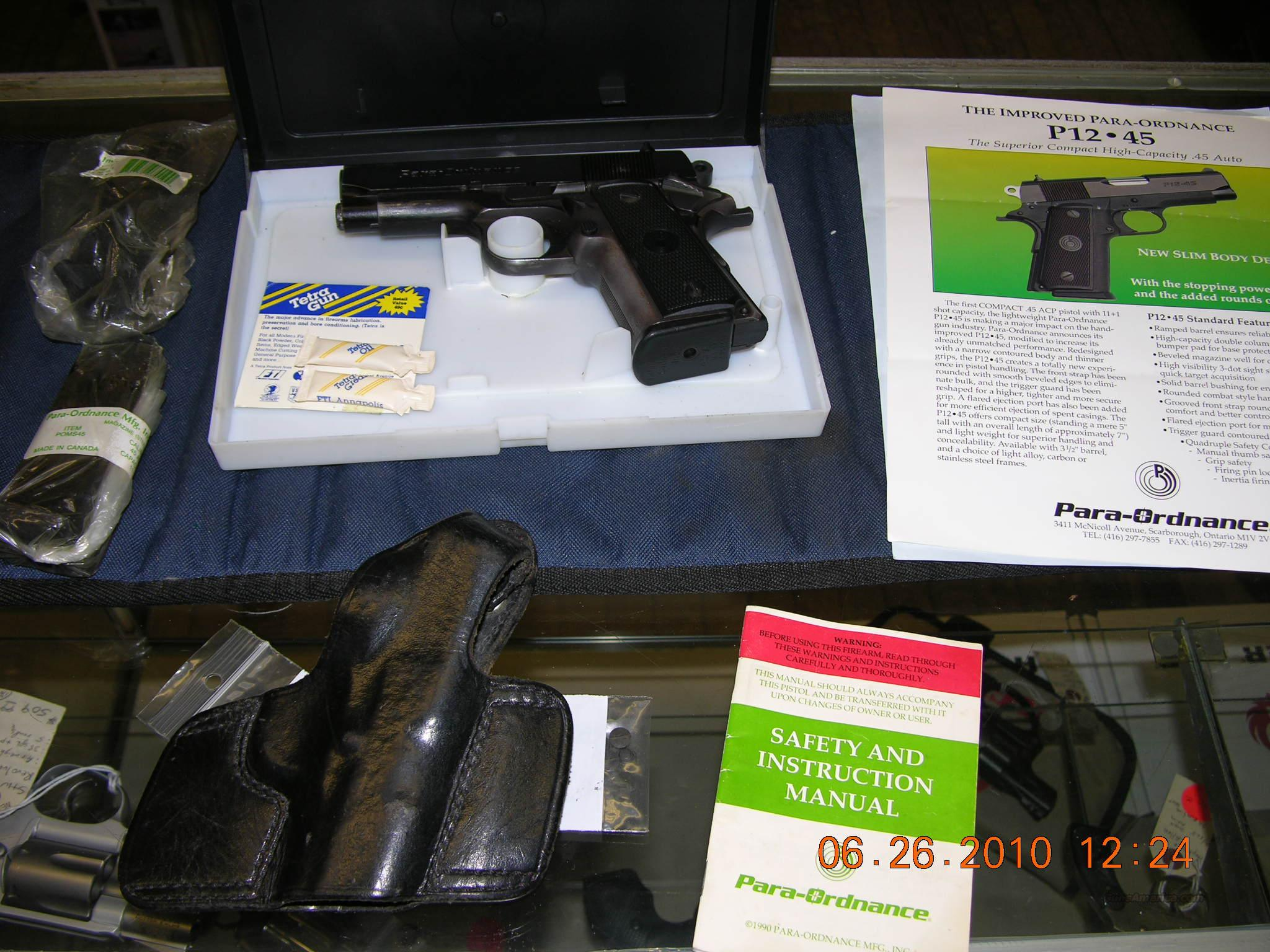 Para Ordnance P12-45 with accessories  Guns > Pistols > Para Ordnance Pistols