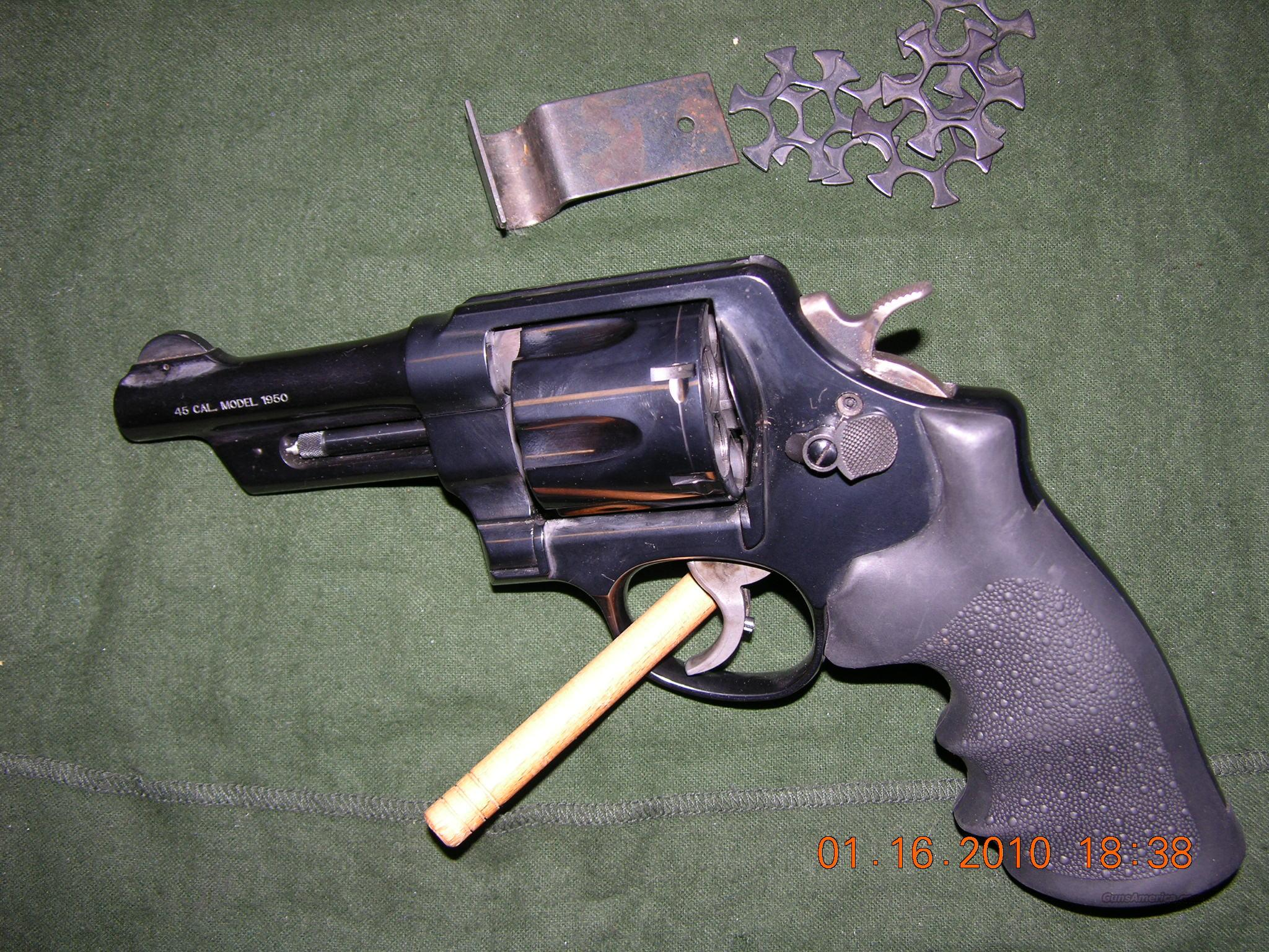 S&W Model 22-4  .45 cal Model 1950   .45 ACP  Guns > Pistols > Smith & Wesson Revolvers > Full Frame Revolver