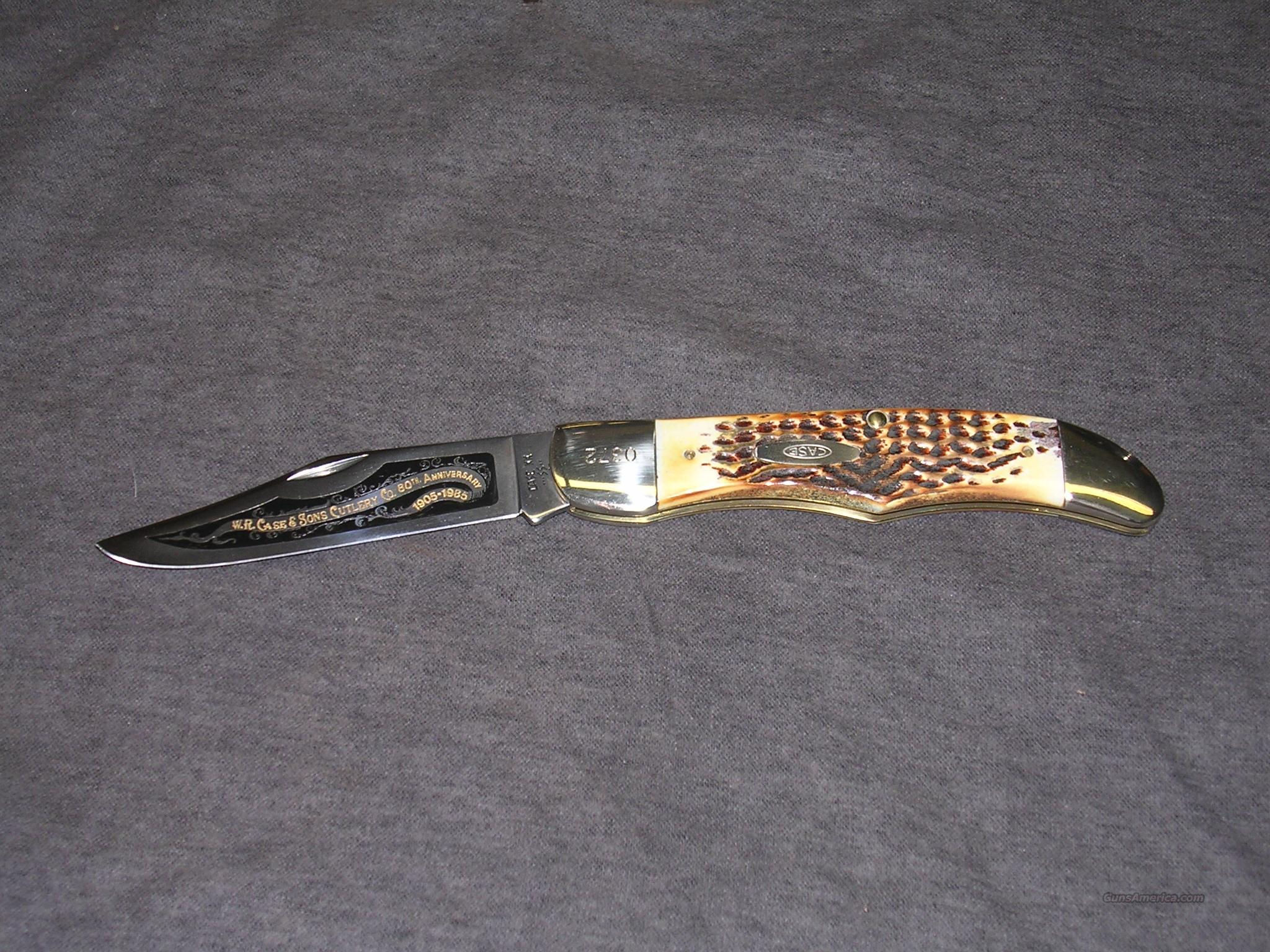 Case 80th Anniv. Stag Folding Hunter knife  Non-Guns > Knives/Swords > Knives > Folding Blade > Hand Made