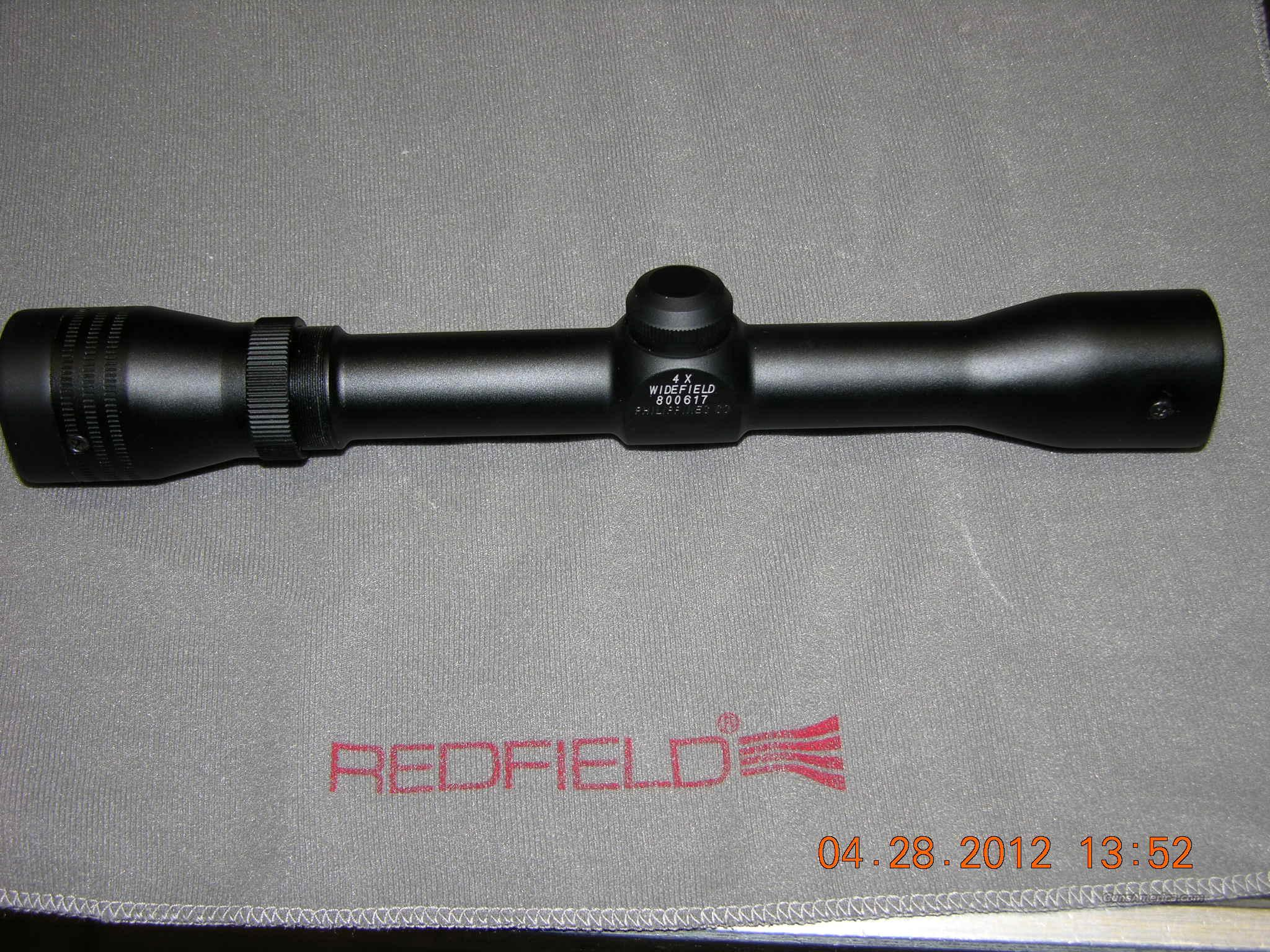 Redfield Widefield Waterproof 4x scope NIB  Non-Guns > Scopes/Mounts/Rings & Optics > Rifle Scopes > Fixed Focal Length