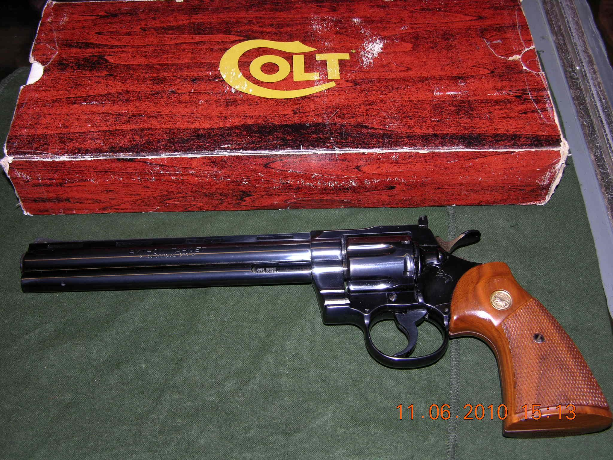 Colt Python Target 8 inch .38 Special  Guns > Pistols > Colt Double Action Revolvers- Modern
