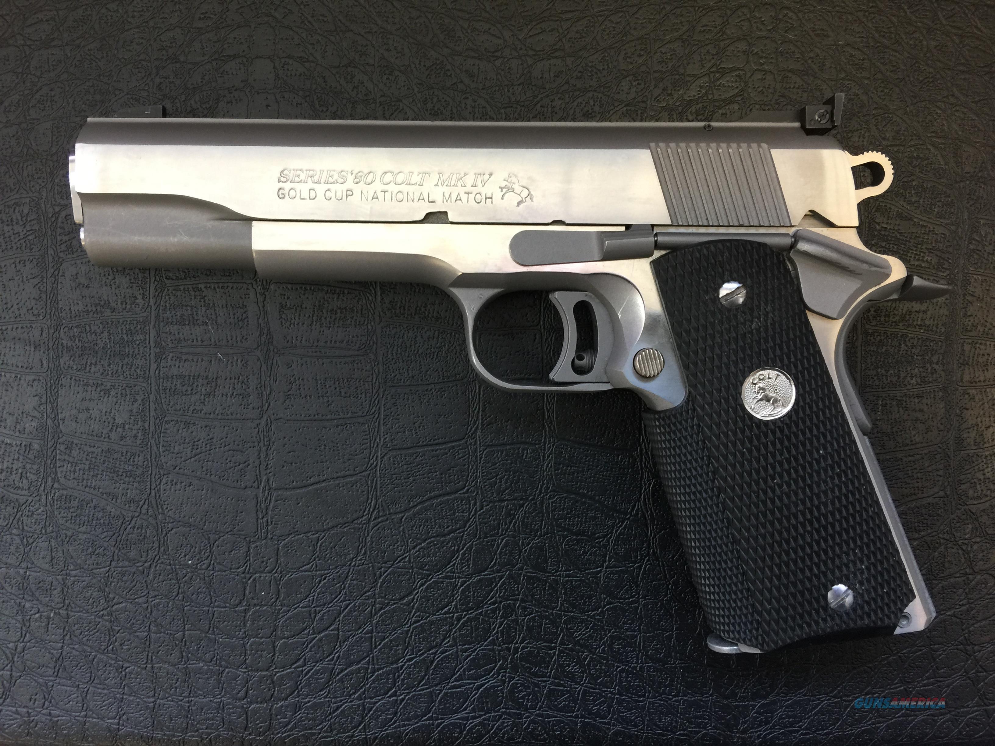 Colt Series 80 MkIV GOLD CUP NATIONAL MATCH - semi-automatic pistol 45acp  Guns > Pistols > Colt Automatic Pistols (1911 & Var)