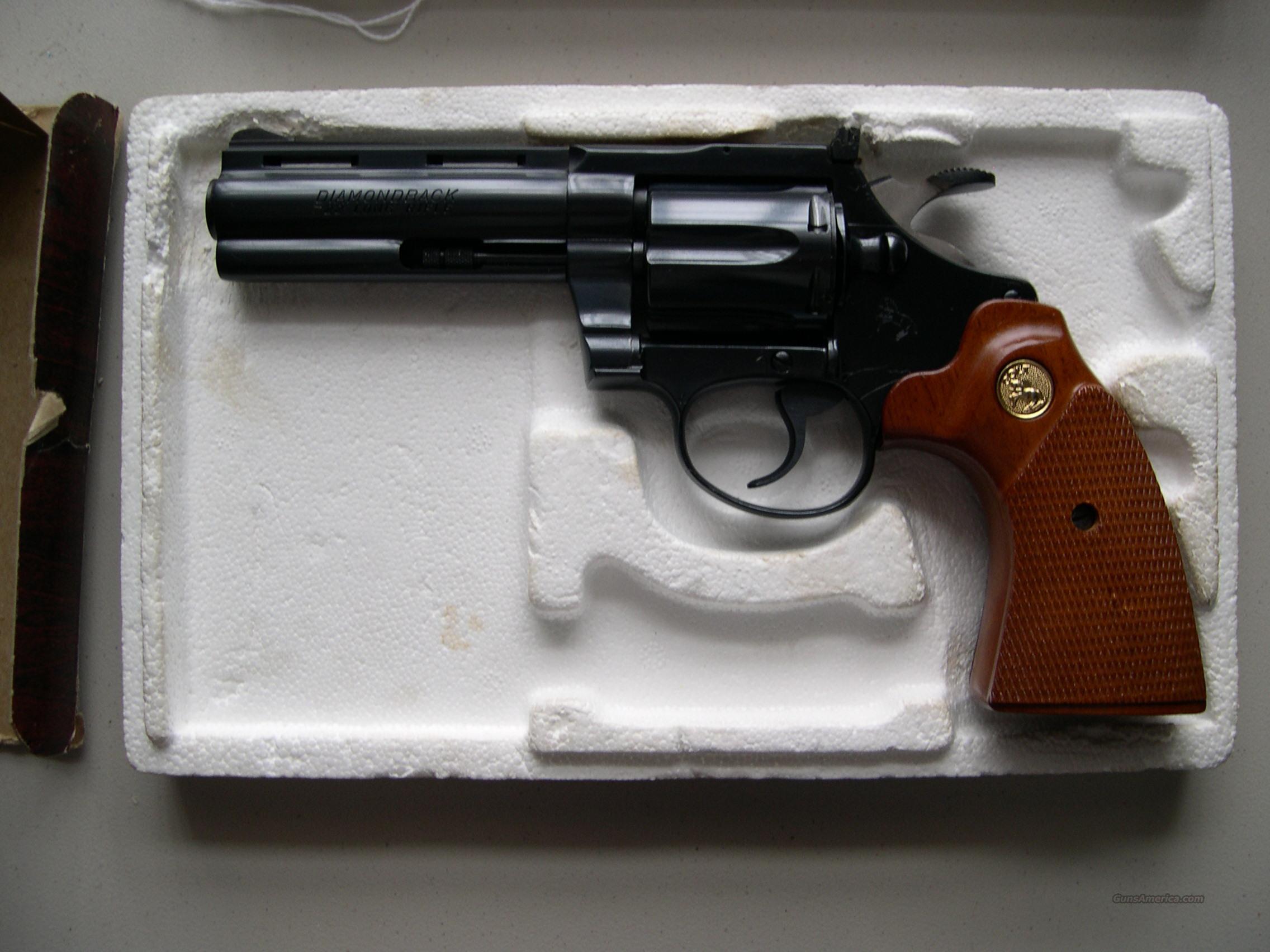 "COLT DIAMONDBACK 4"" 22LR BLUE  Guns > Pistols > Colt Double Action Revolvers- Modern"