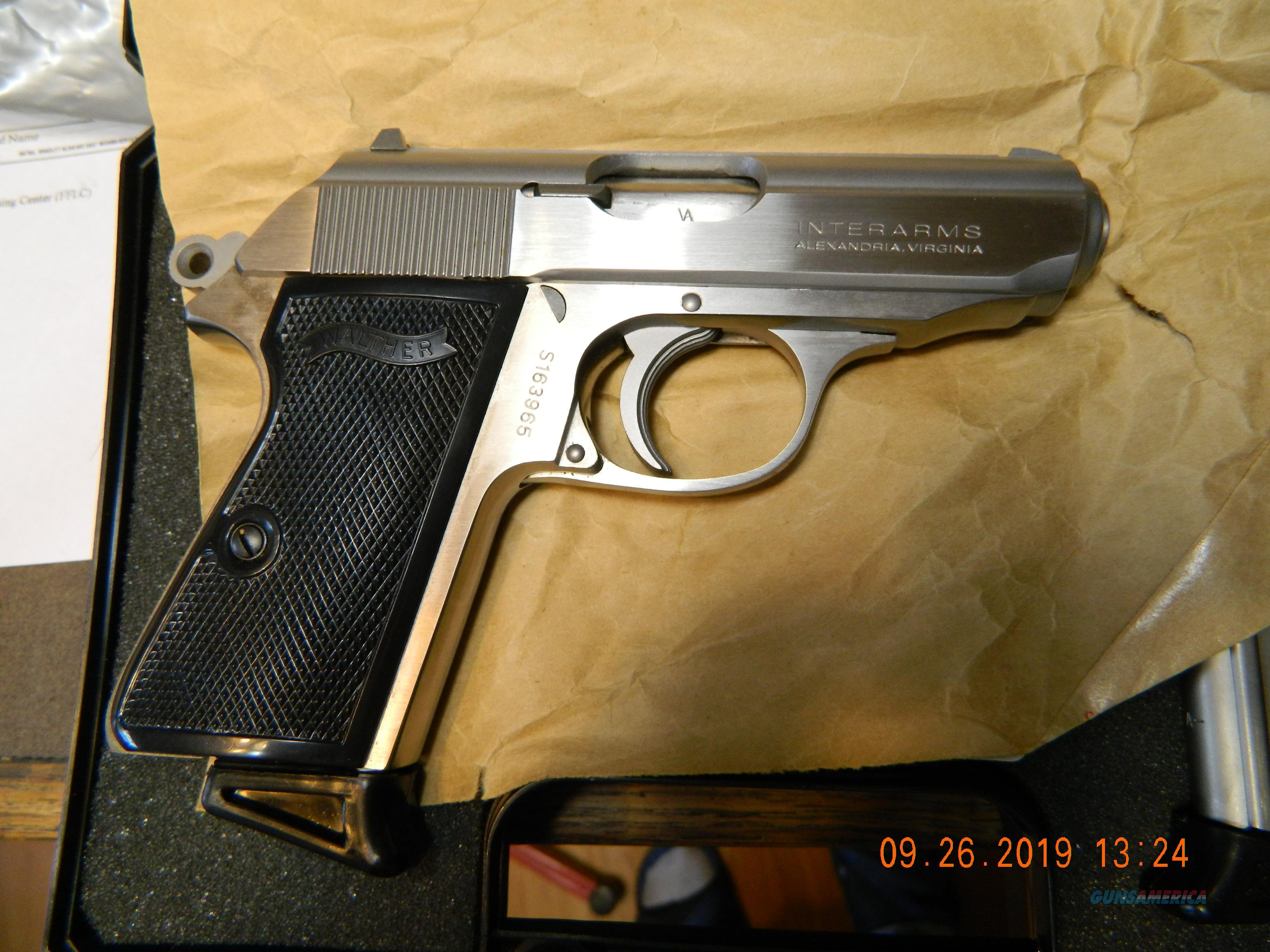Interarms PPK/S Stainless 380  Guns > Pistols > Walther Pistols > Post WWII > PPK Series