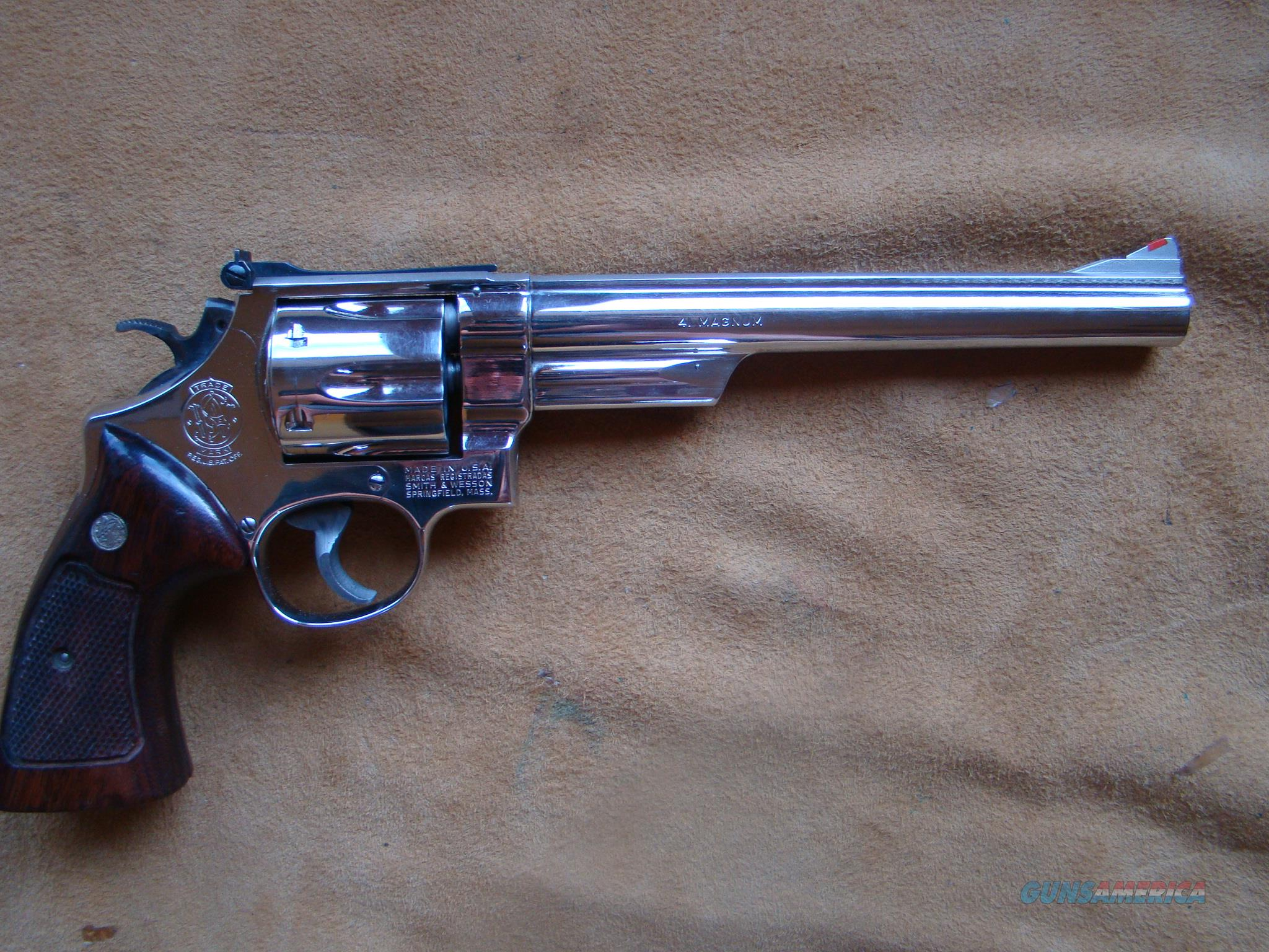 SMITH & WESSON   57 NO DASH  41 mag  8 3/8  in barrel NICKEL  Guns > Pistols > Smith & Wesson Revolvers > Full Frame Revolver