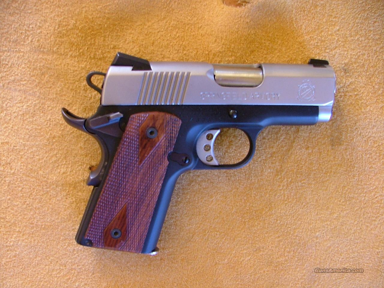 SPRINGFIELD 1911 MICRO COMPACT  40 cal   Guns > Pistols > Springfield Armory Pistols > 1911 Type