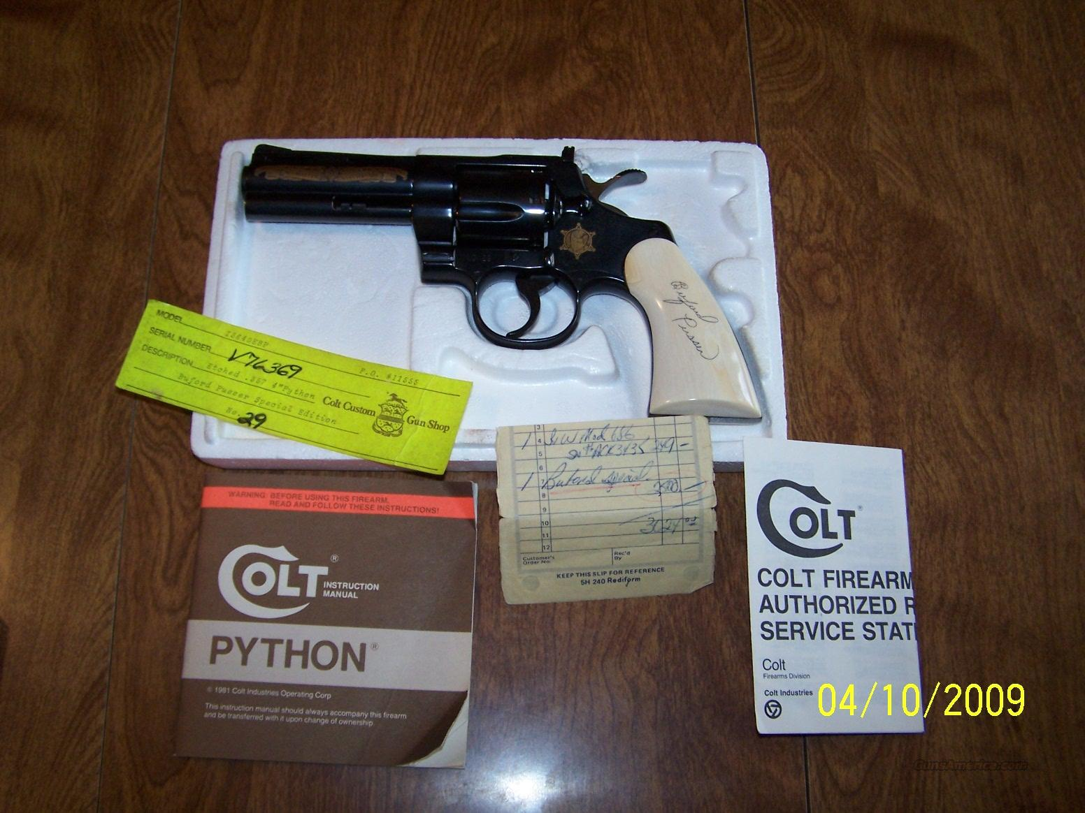"Colt Python ""Buford Pusser"" Edtion Unfired  Guns > Pistols > Colt Double Action Revolvers- Modern"