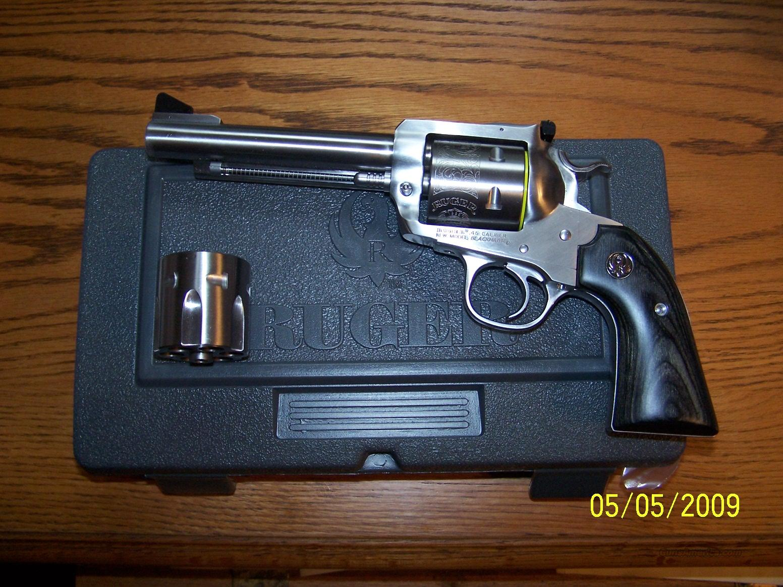 Ruger SS Bisley 45/45acp  Guns > Pistols > Ruger Single Action Revolvers > Blackhawk Type
