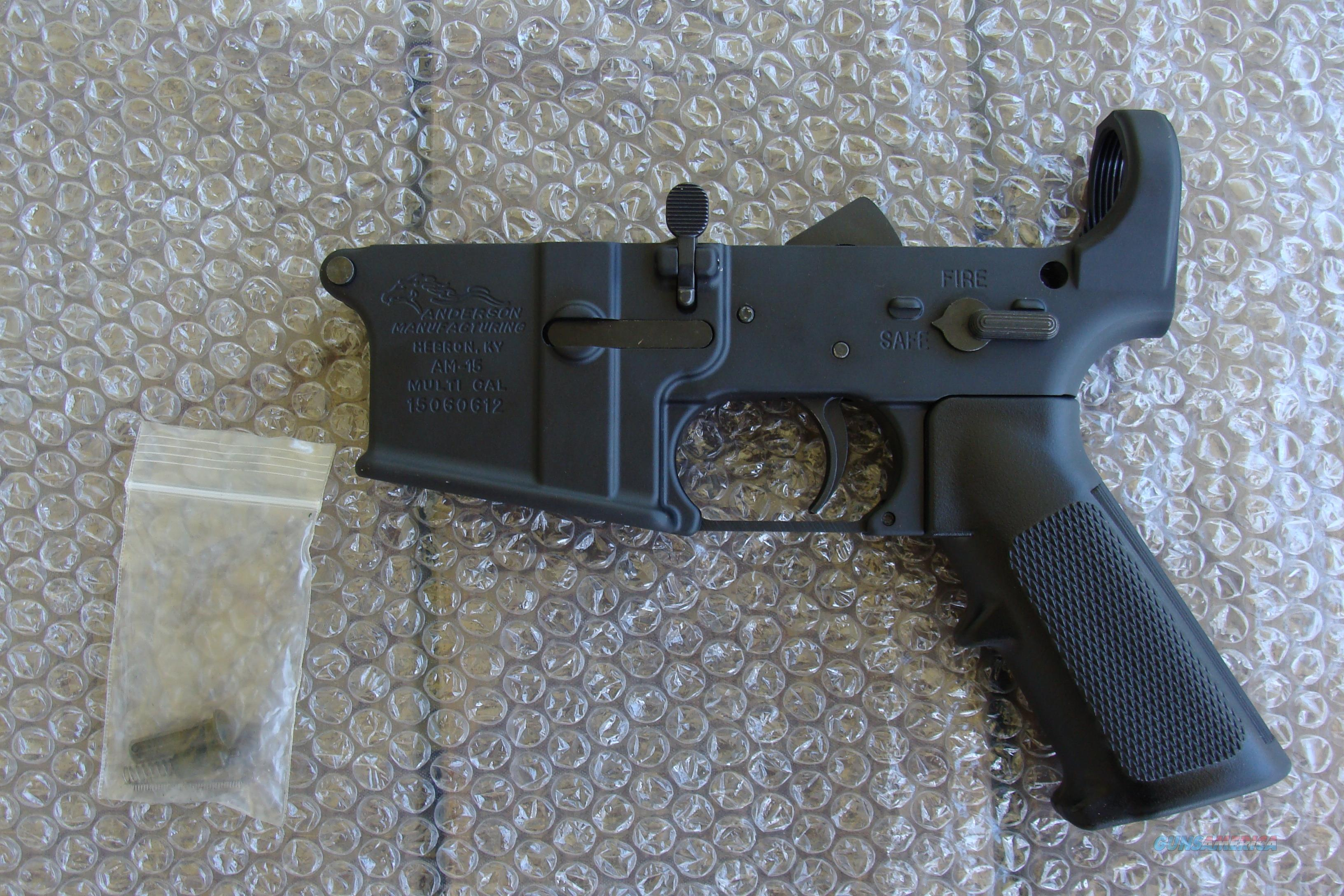 Anderson AR15 Mil-Spec Multi Cal Lower Reciever  W/Parts kit installed NEW  Guns > Rifles > AR-15 Rifles - Small Manufacturers > Lower Only