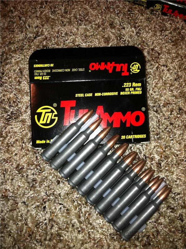 Tula 223 ammo 600 rounds  Non-Guns > Ammunition