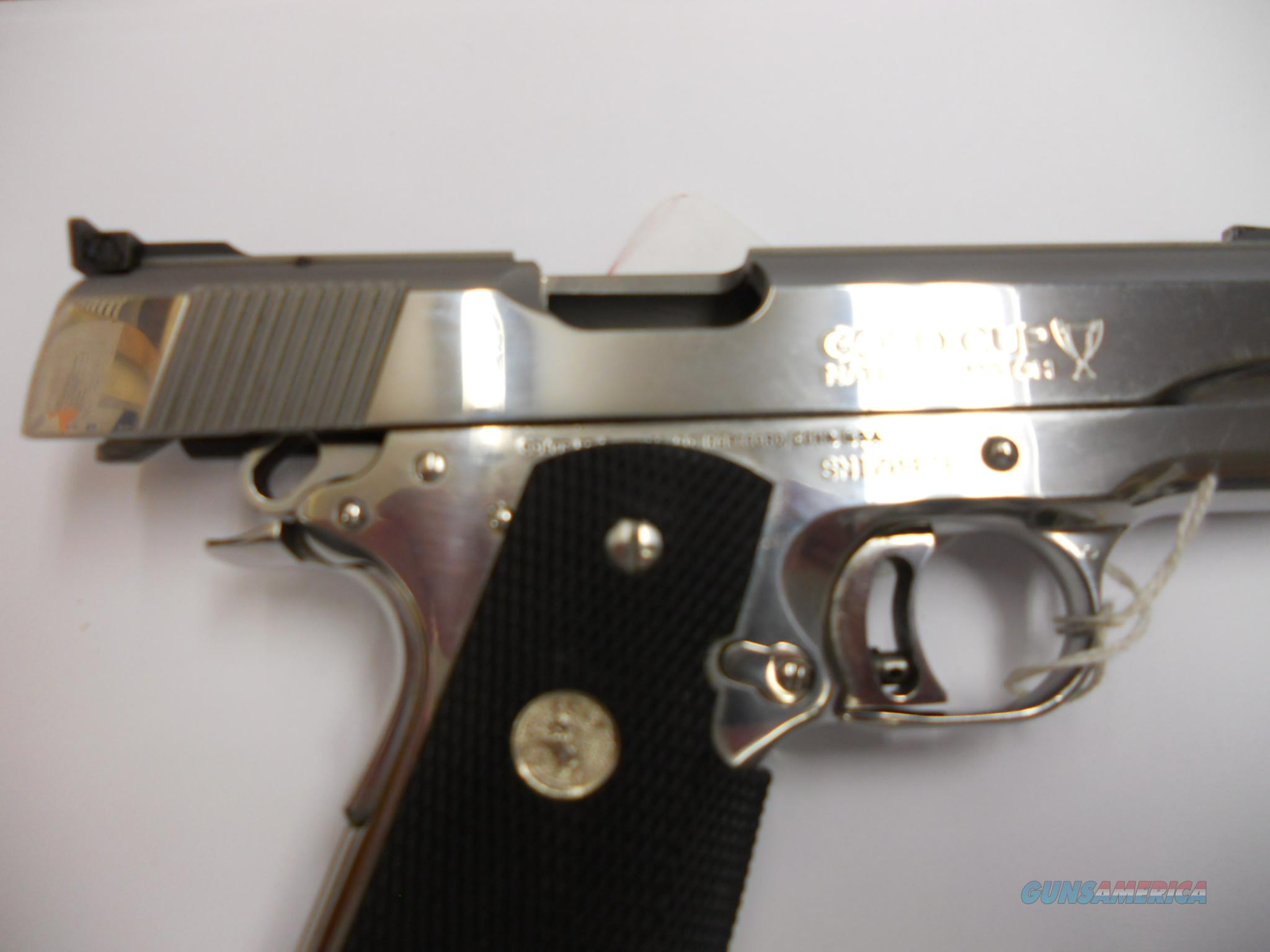 Colt 1911 Bright Stainless Gold Cup National Match-MINTY  Guns > Pistols > Colt Automatic Pistols (1911 & Var)