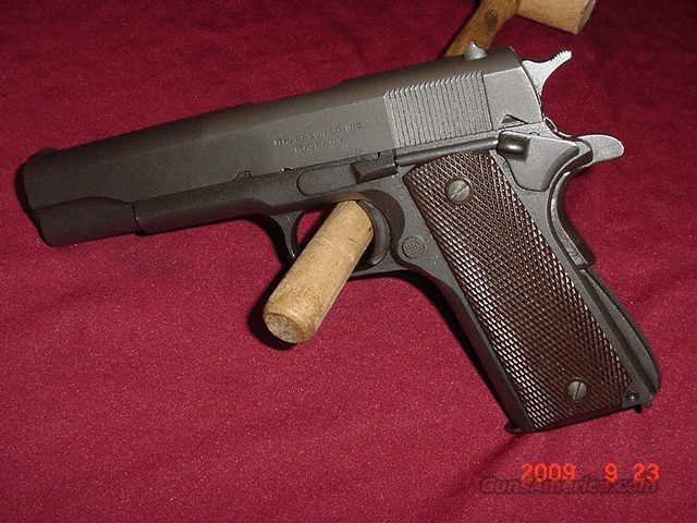 Ithaca 1911A1 late 44 or Early 45 95+%  Guns > Pistols > Military Misc. Pistols US > 1911 Pattern