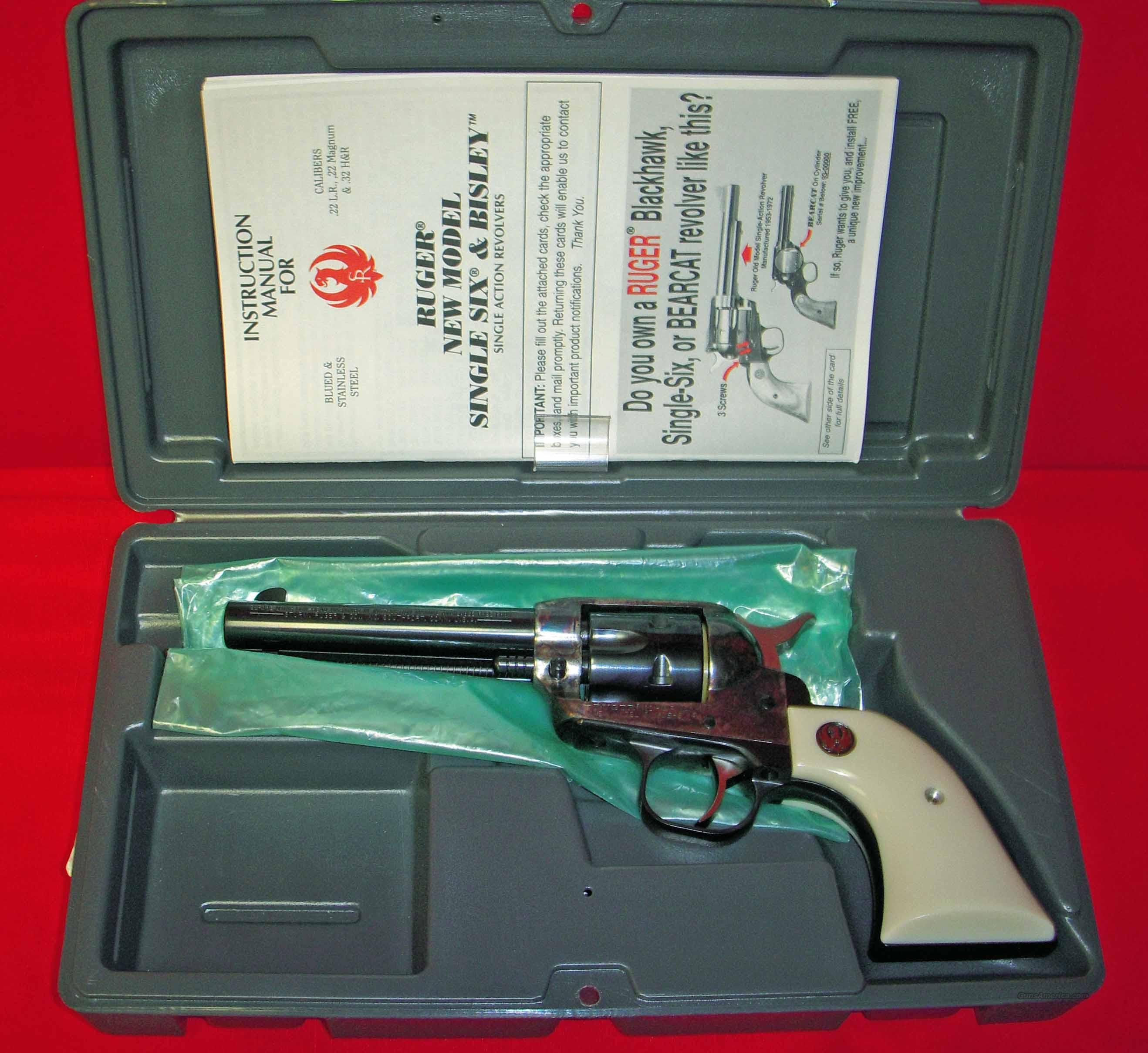 Ruger Single-Six Case Color Blue 32 Magnum    Guns > Pistols > Ruger Single Action Revolvers > Single Six Type