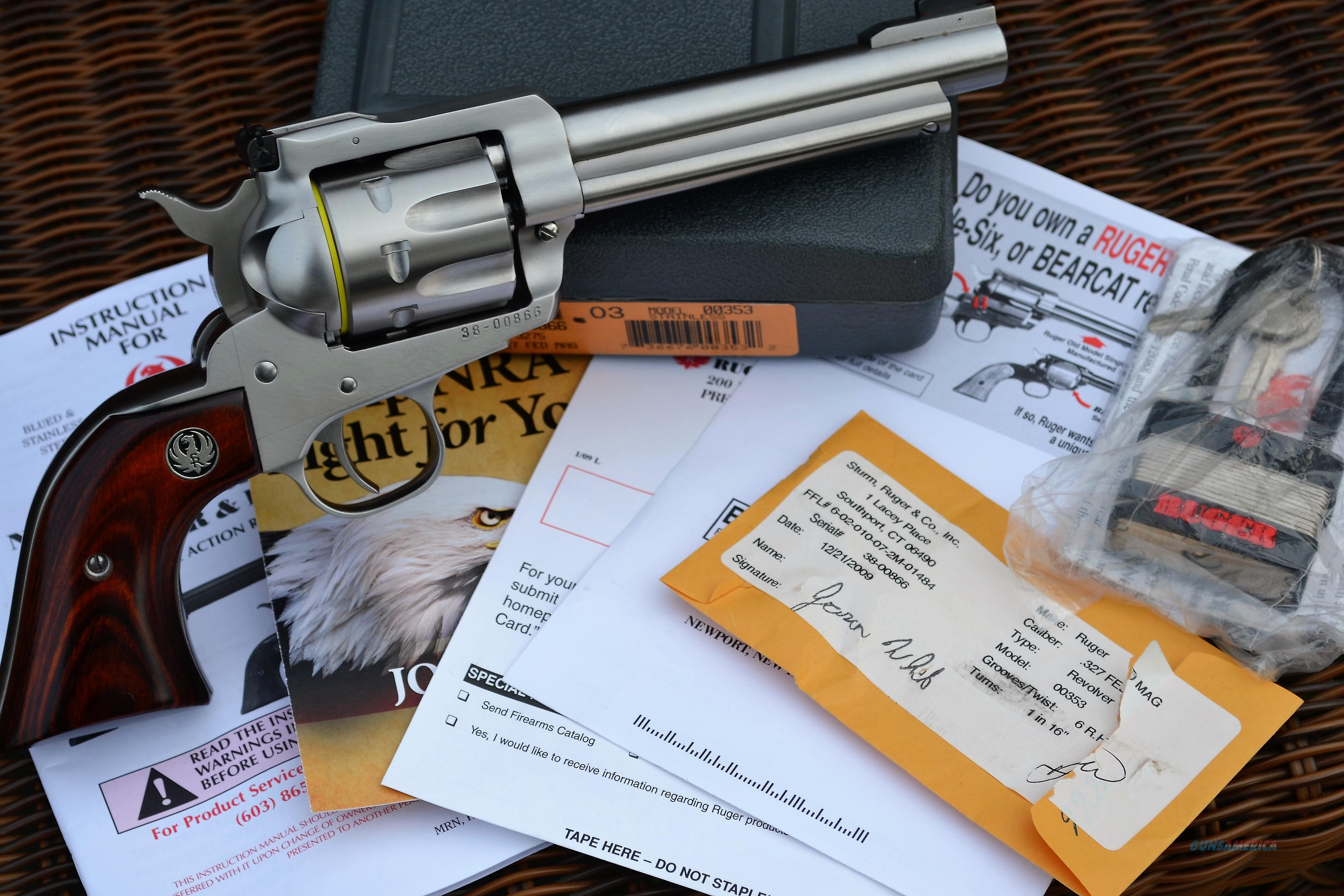 Ruger Blackhawk 327 Fed Mag Case, Papers 3 Digit Serial #   Guns > Pistols > Ruger Single Action Revolvers > Blackhawk Type